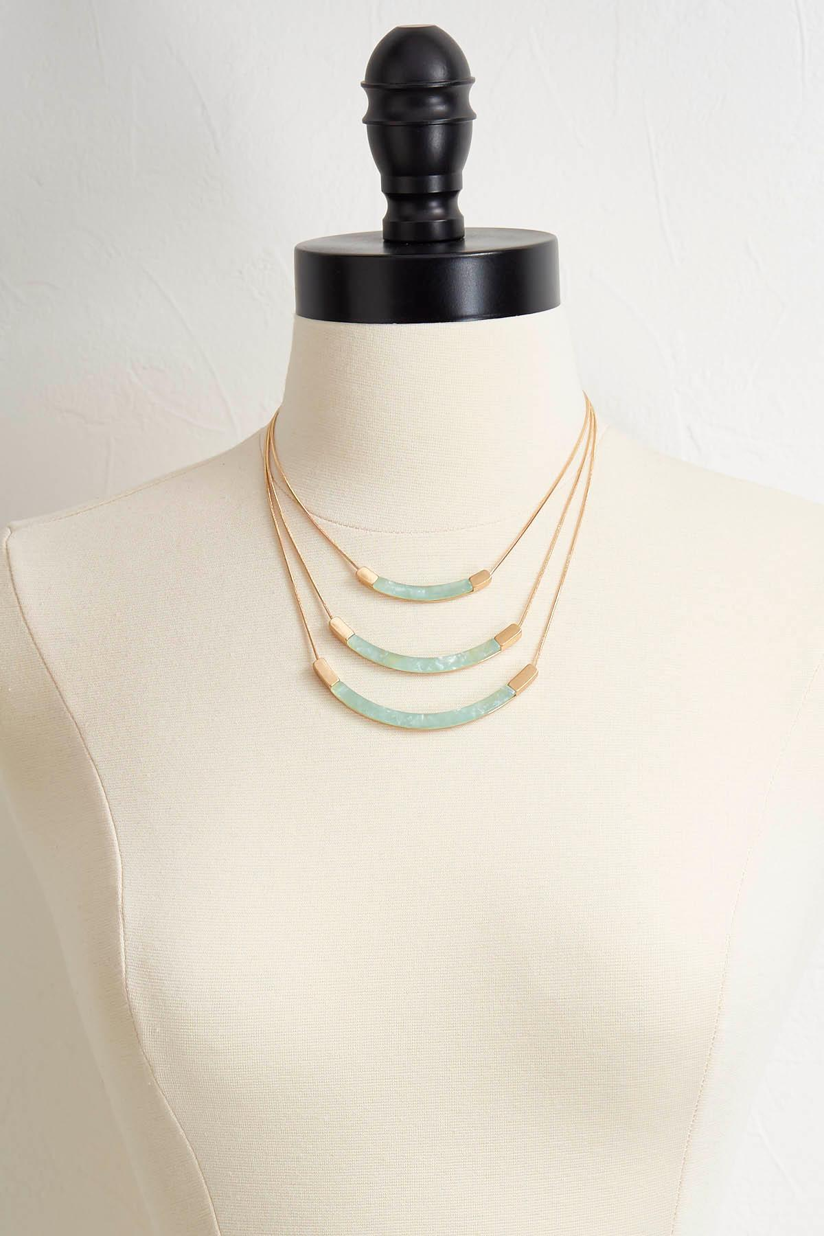 Layered Lucite Bar Necklace