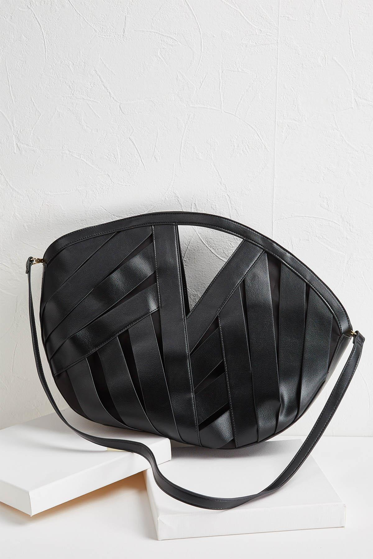 Faux Leather Weave Bag