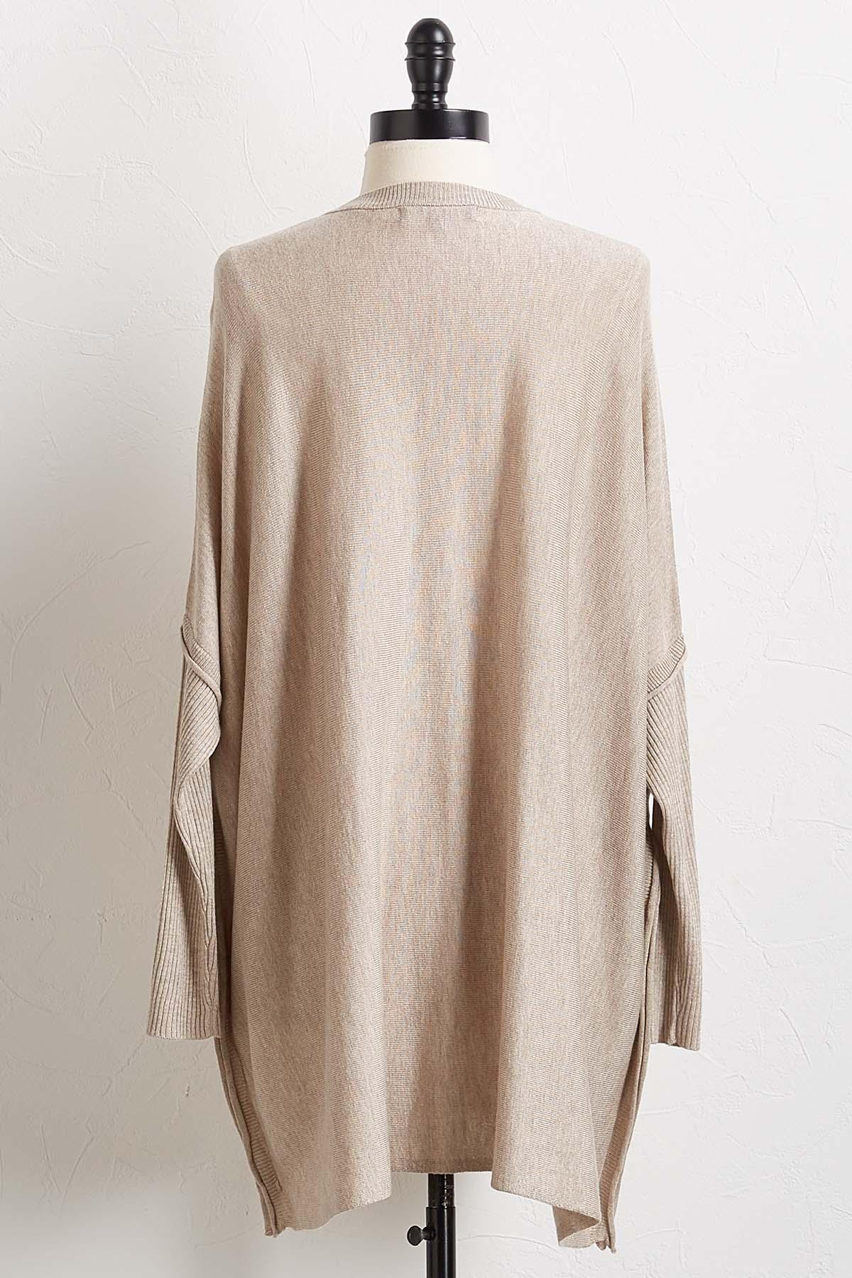 Tunic Poncho Sweater