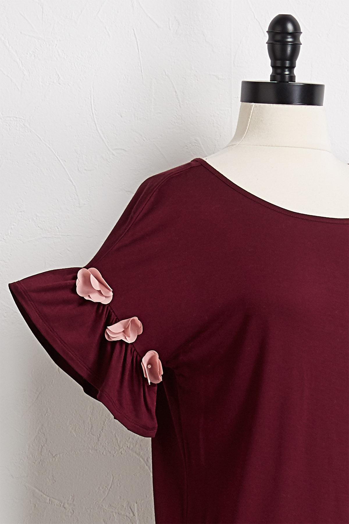 Pink Petal Sleeve Top