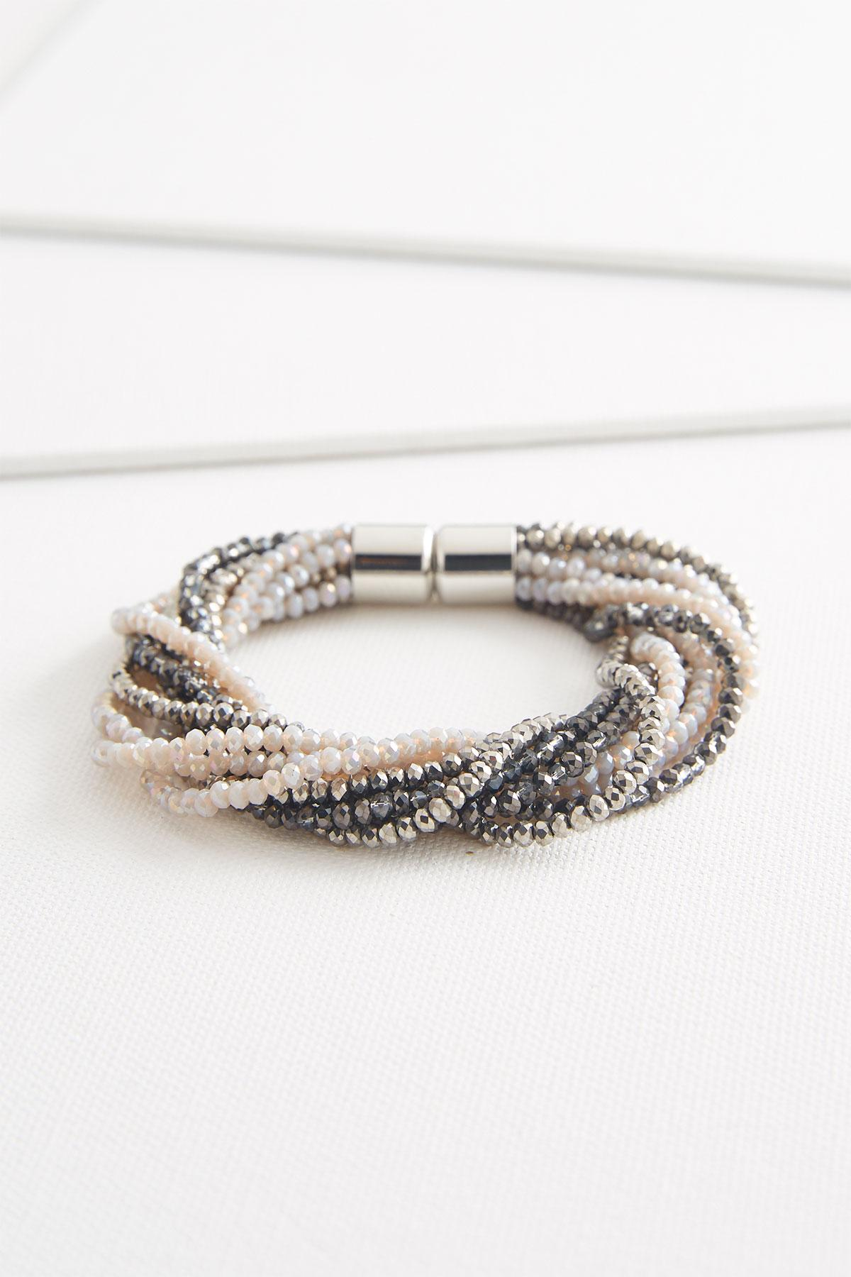 Rondelle Beaded Magnetic Bracelet