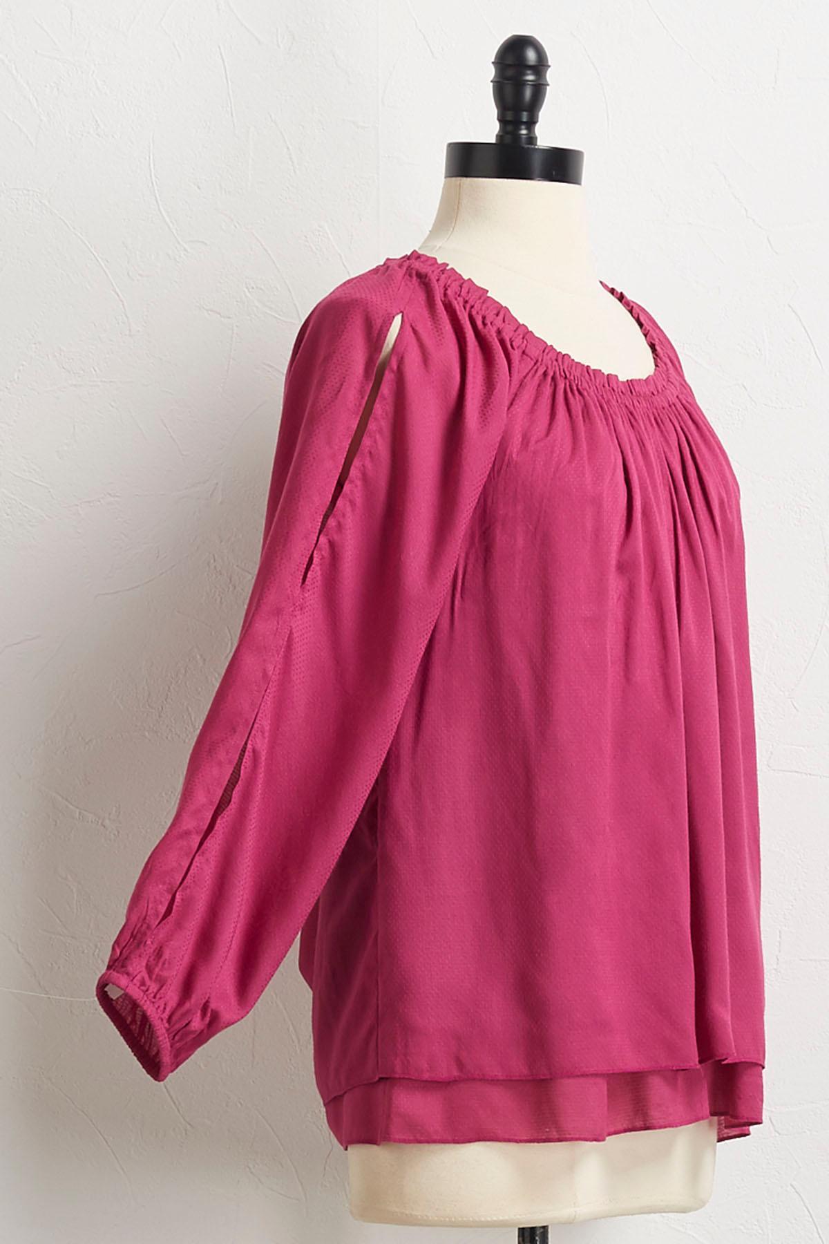 Layered Split Sleeve Top