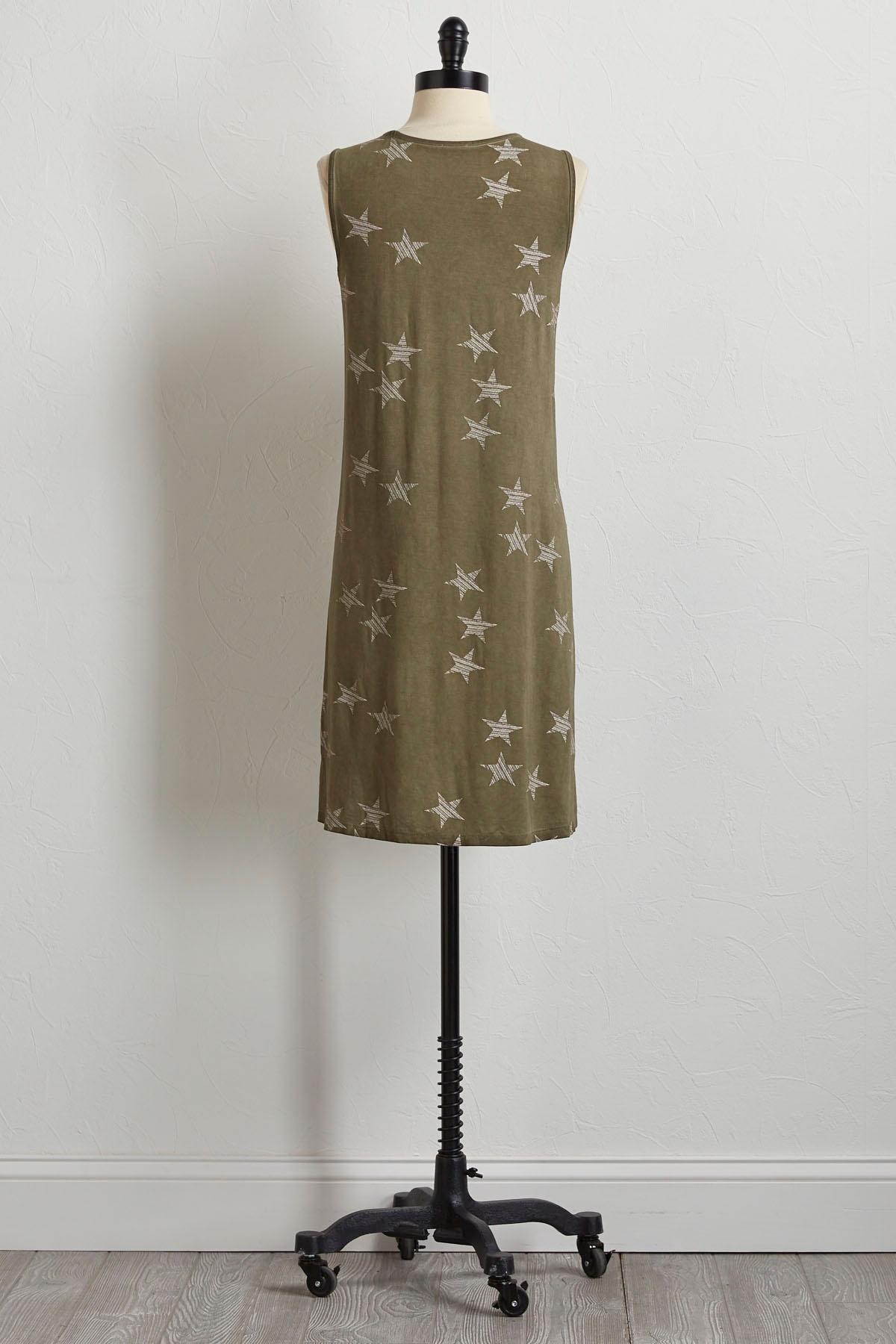 Striped Star Tank Dress