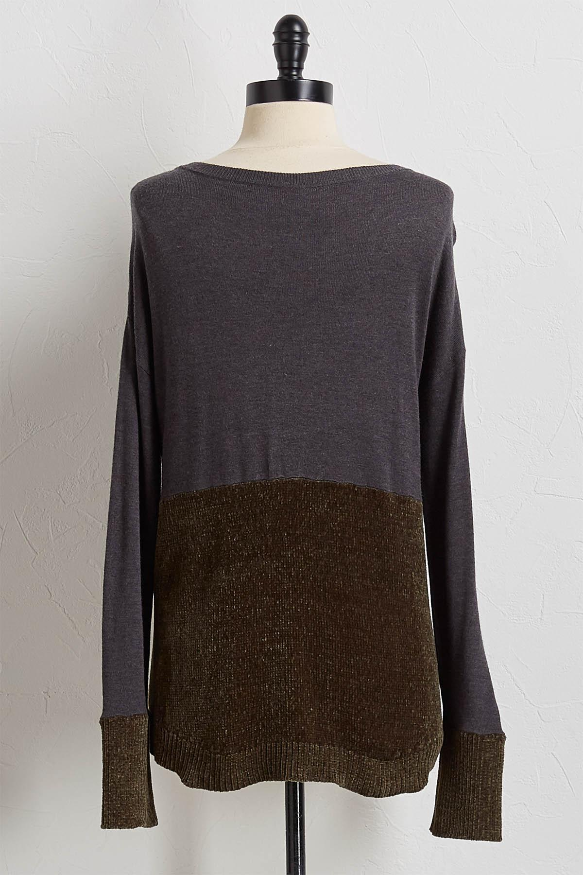 Jersey Chenelle Mixed Sweater