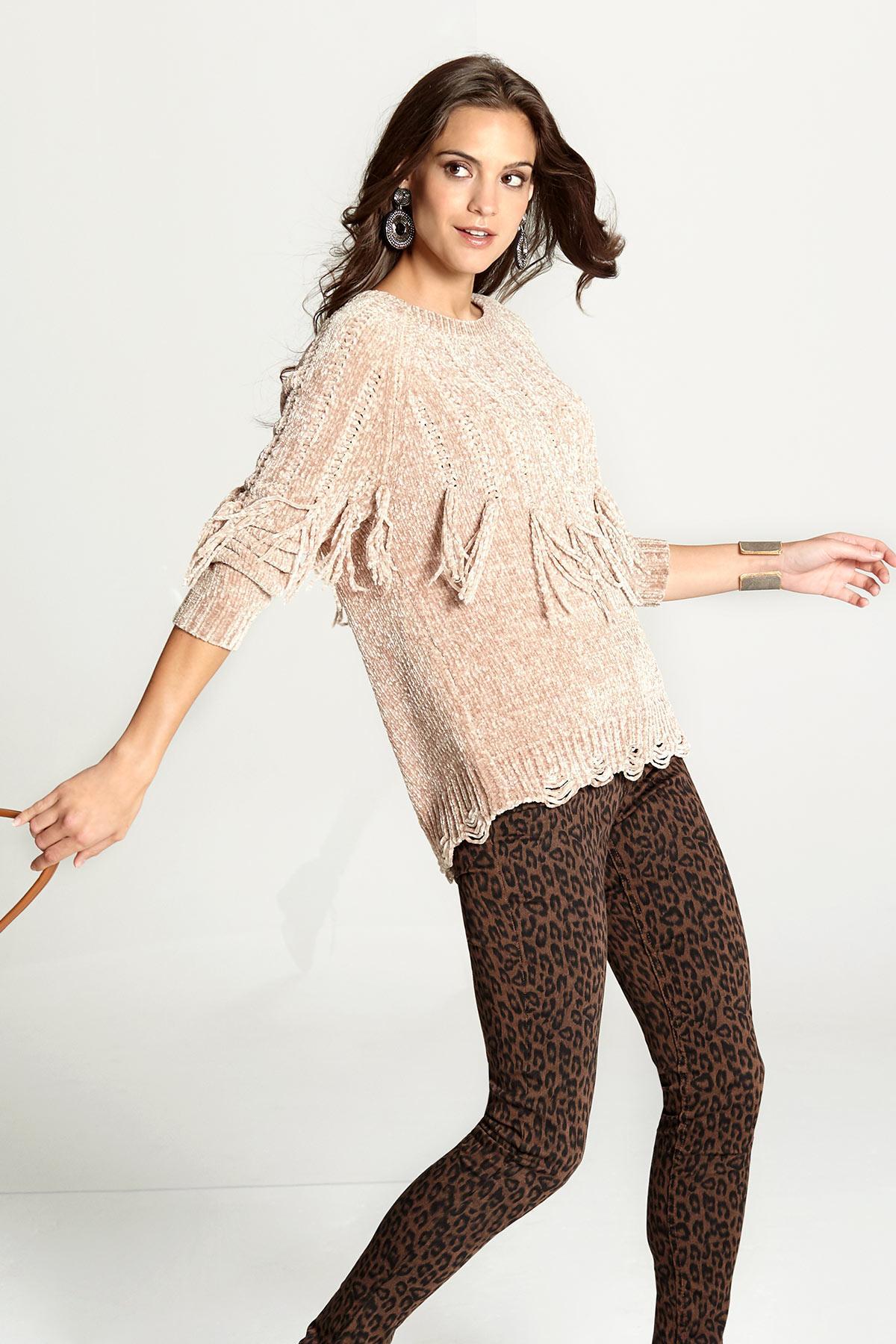 Fringe Chenille Sweater