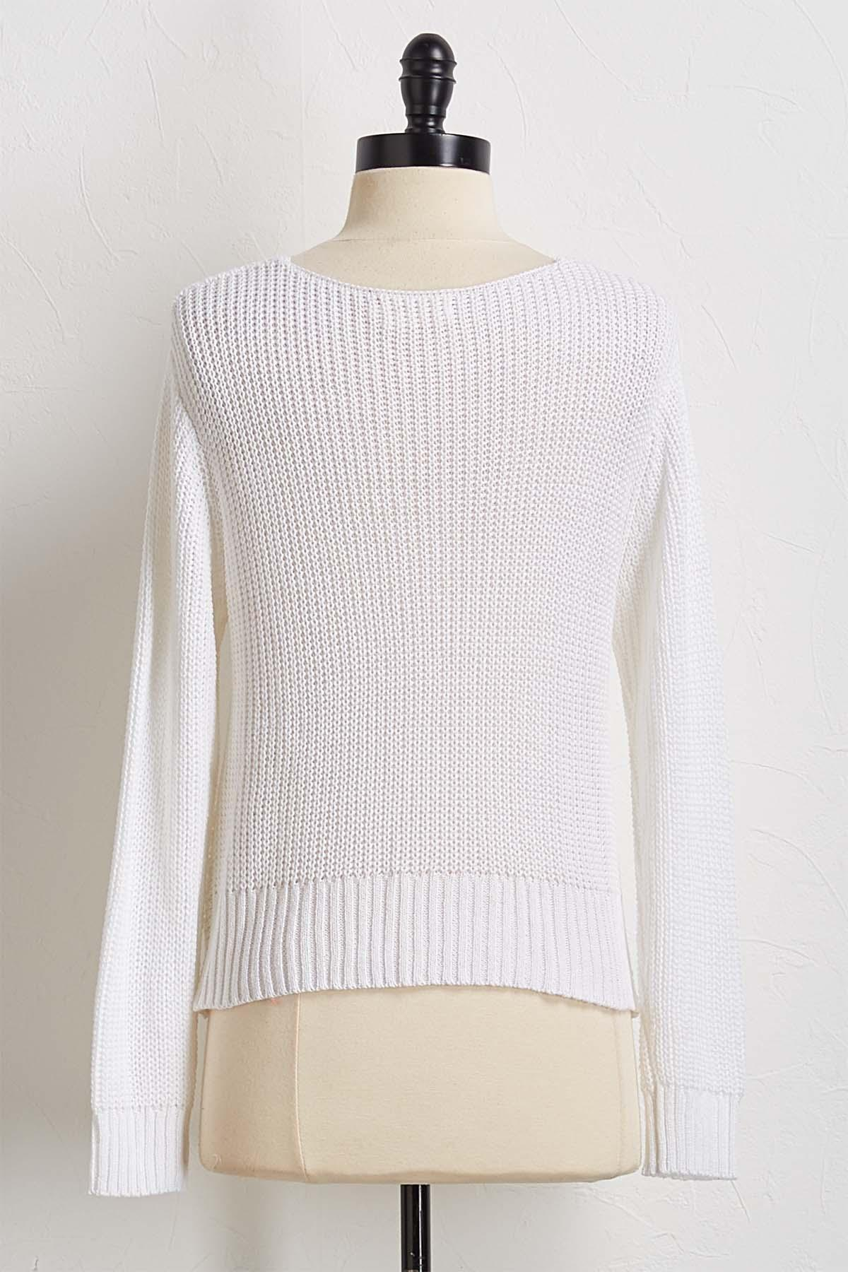 Knotted Sweater Tunic