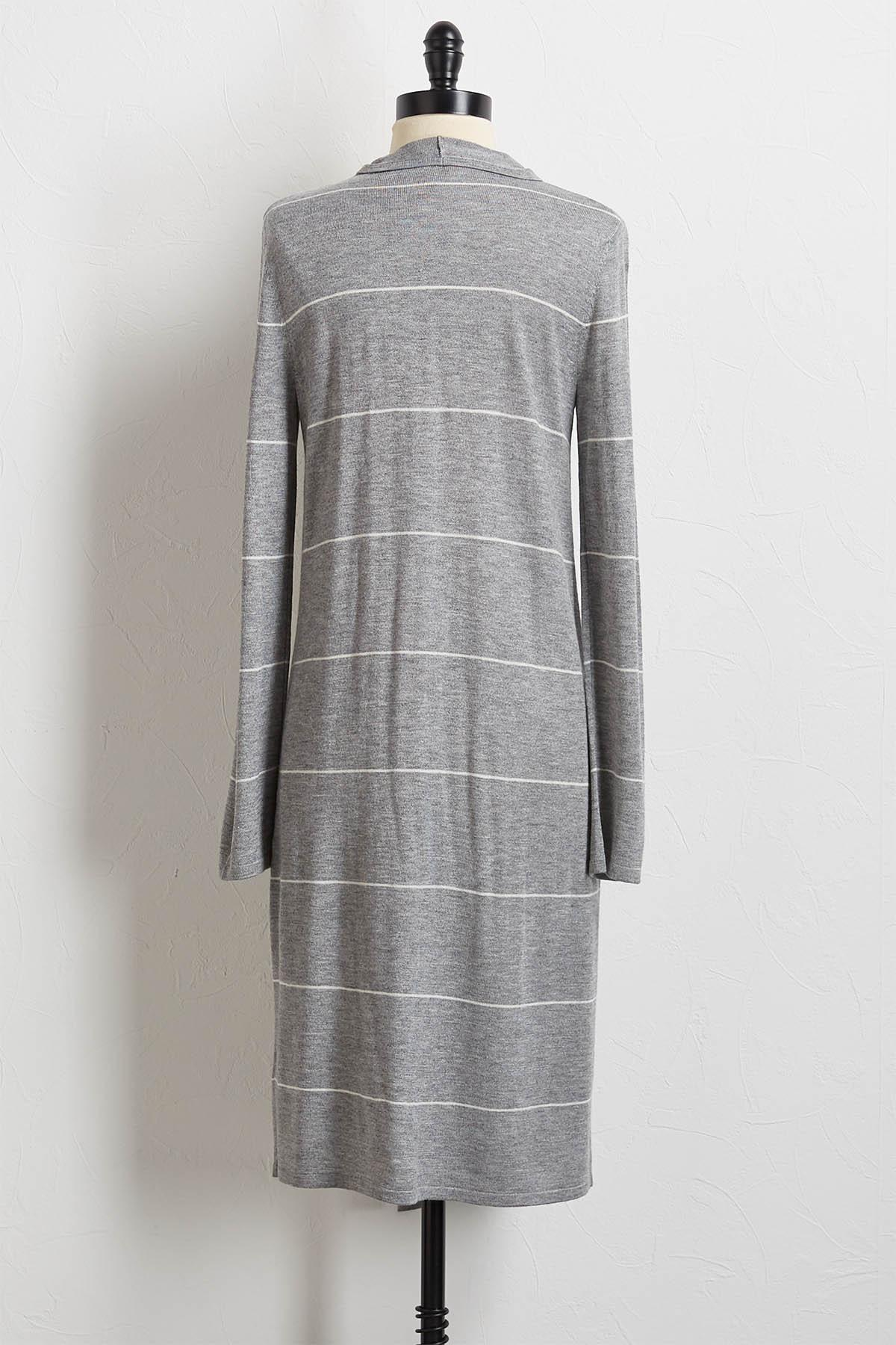 Cashmere Blend Striped Cardigan