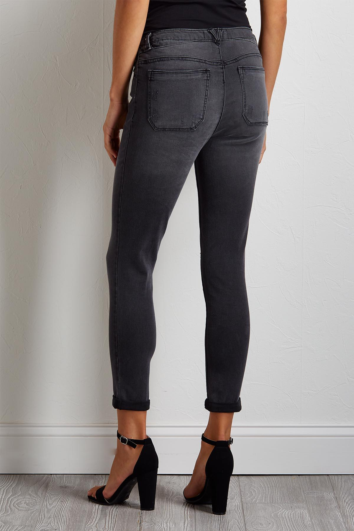 Faded Button Fly Jeans