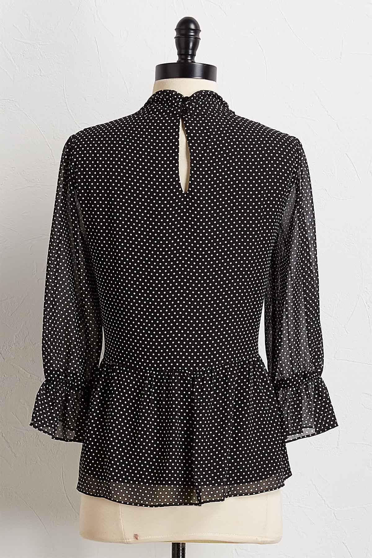 Black And White Dotted Top
