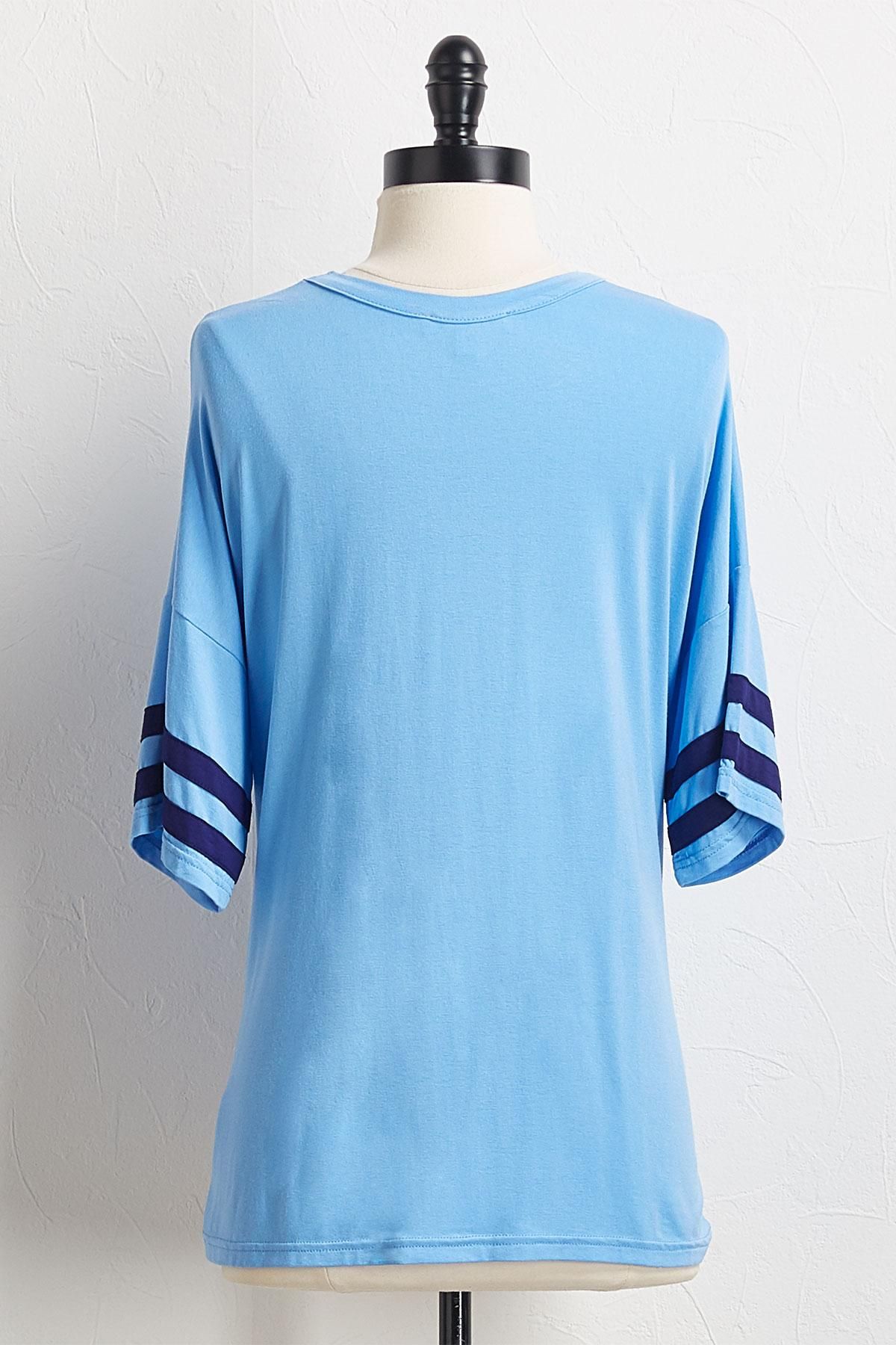 Knotted Striped Athletic Tee
