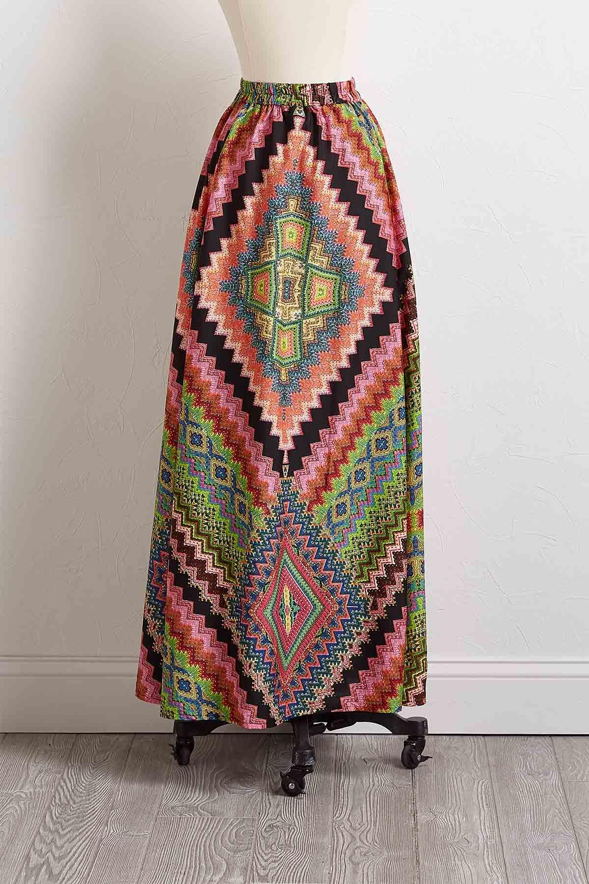 Zig Zag Zest Maxi Skirt