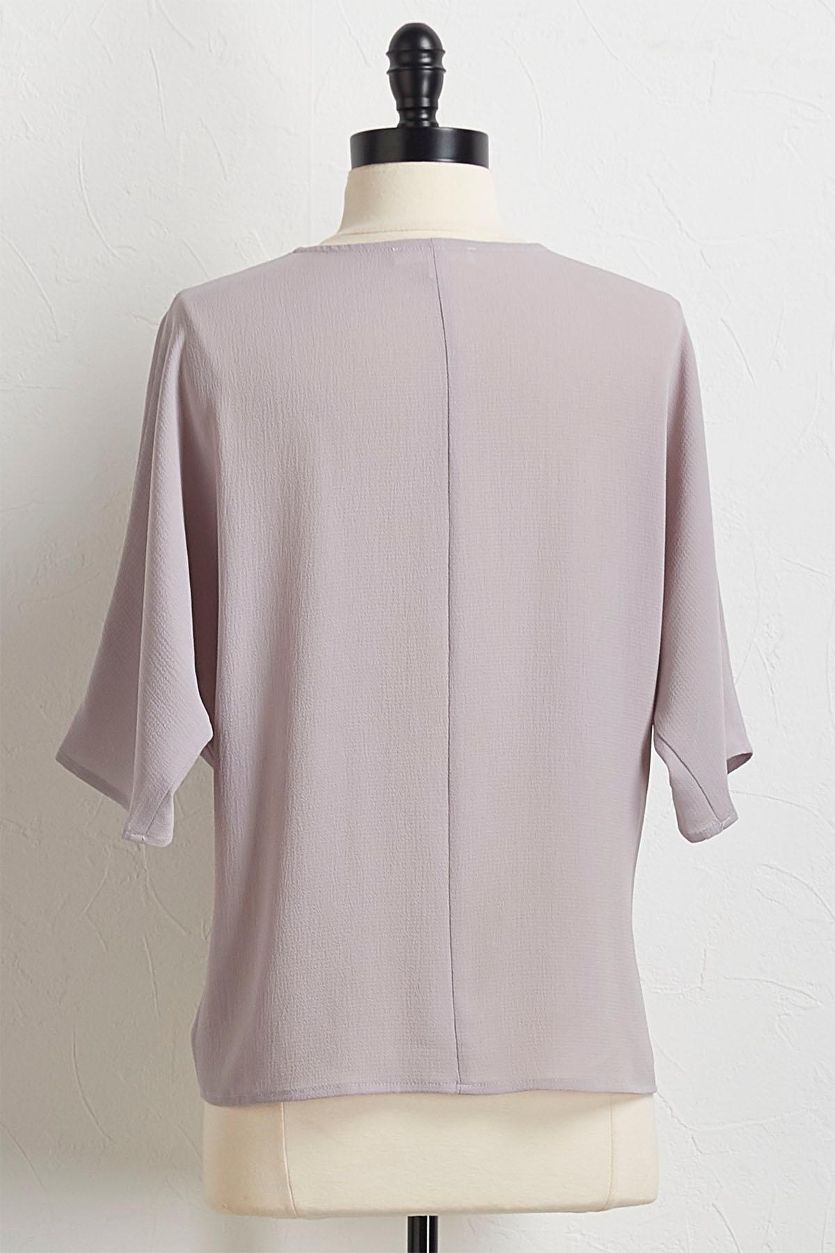 Crepe Knotted Front Top