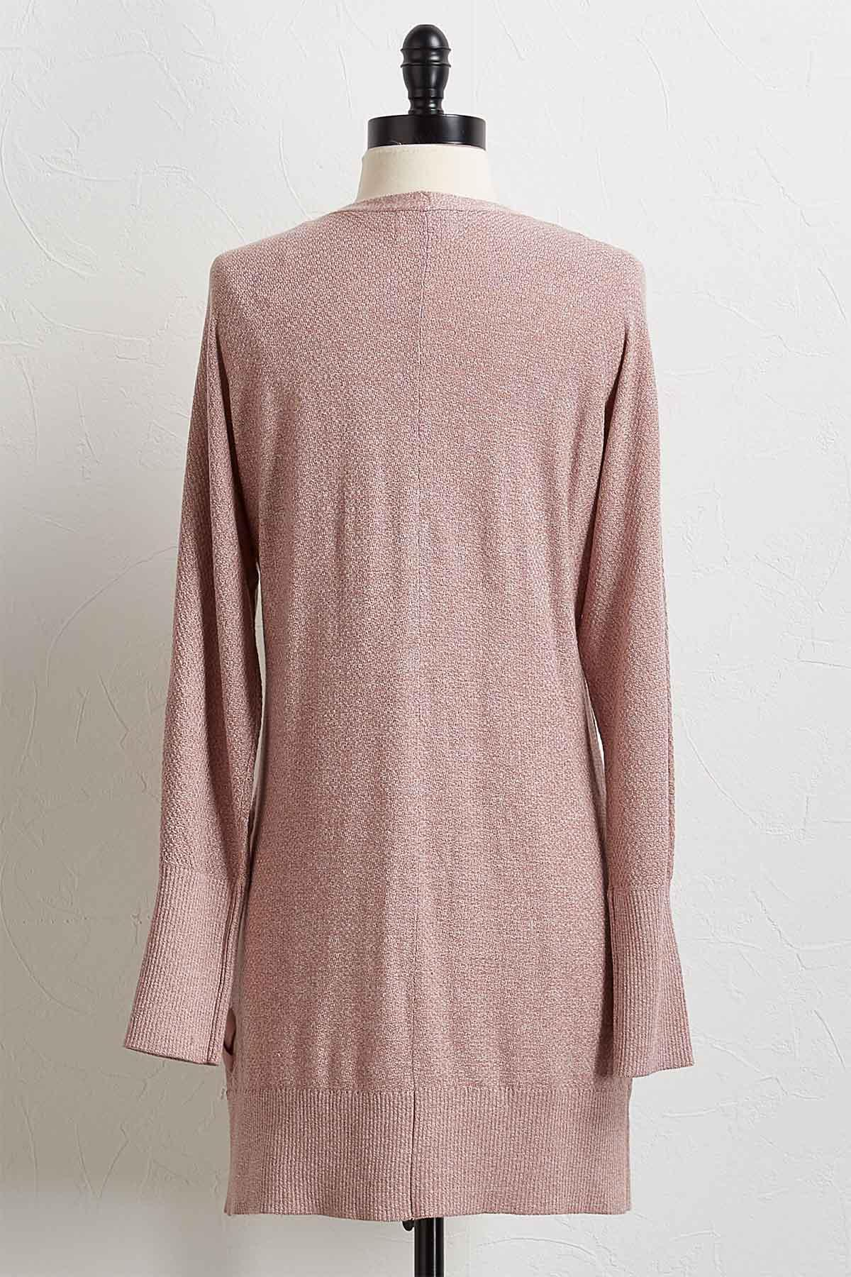 Rose Lace Up Cardigan Sweater
