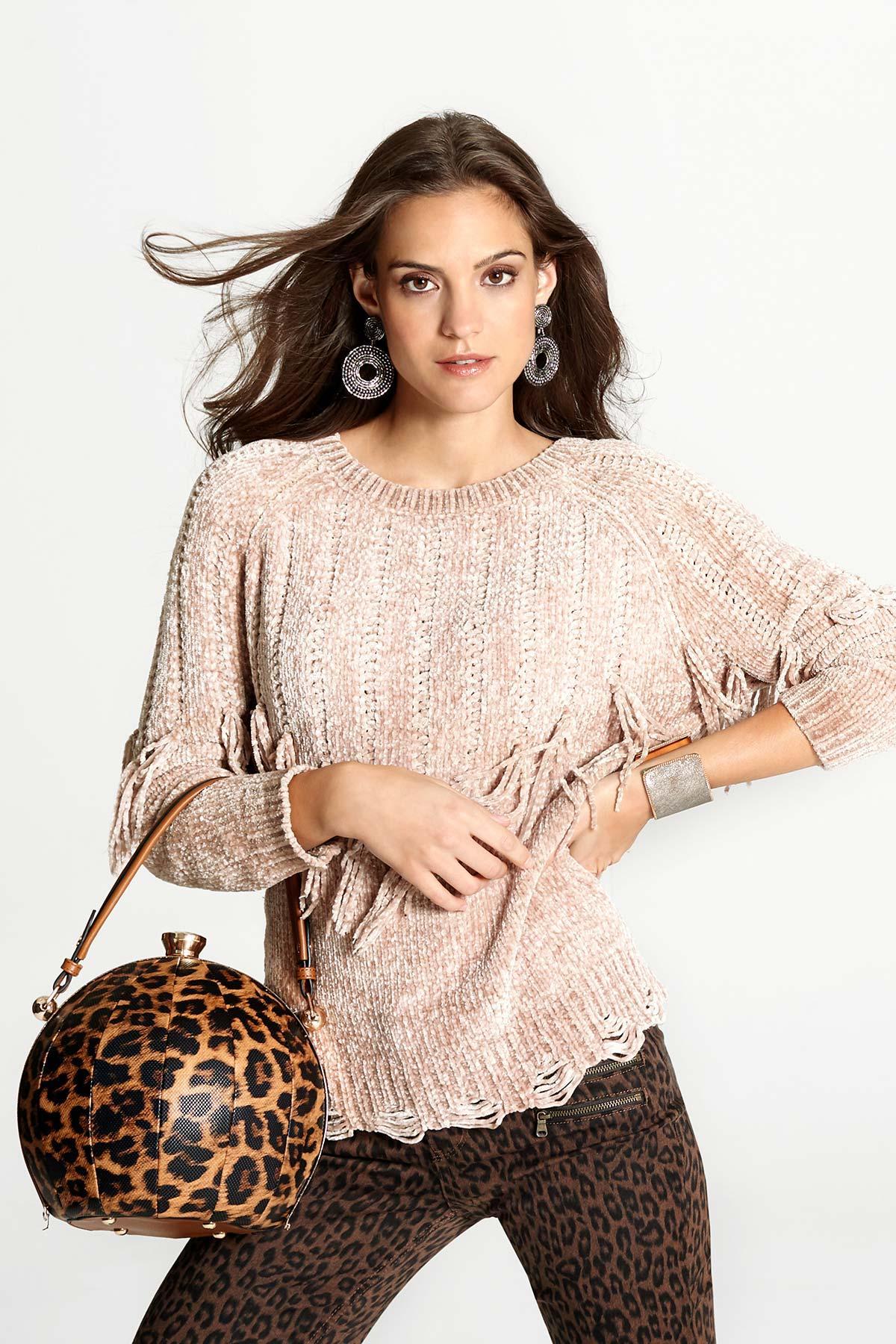 Ball Shaped Leopard Handbag