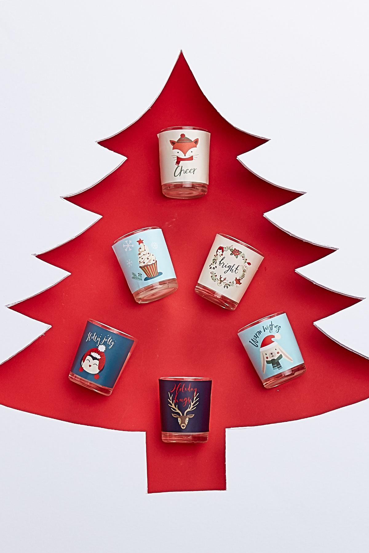 Holiday House Glass Votive Gift Set