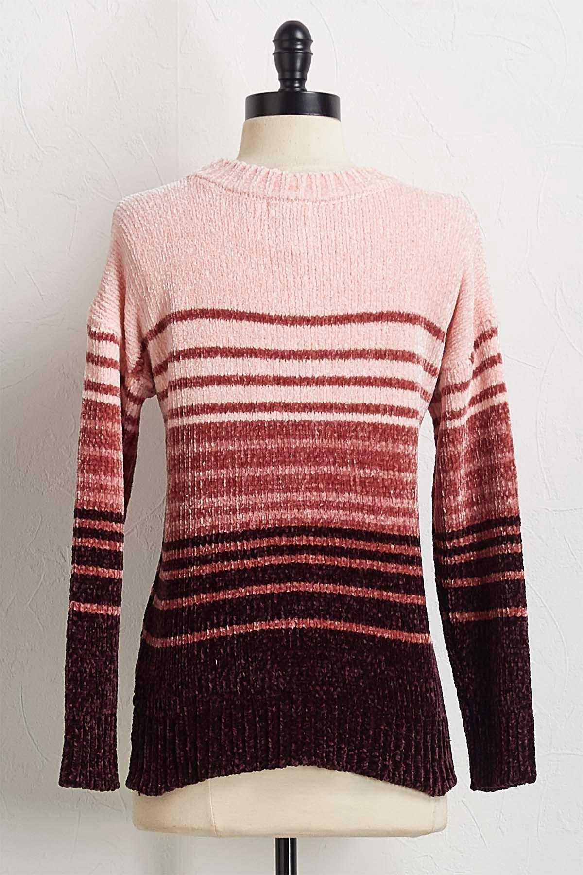 Ombre Stripe Chenille Sweater