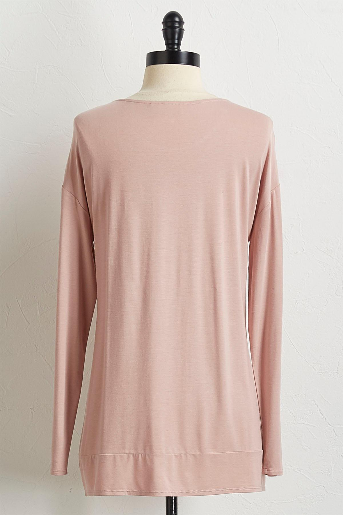 Rose Twisted Hem Tunic