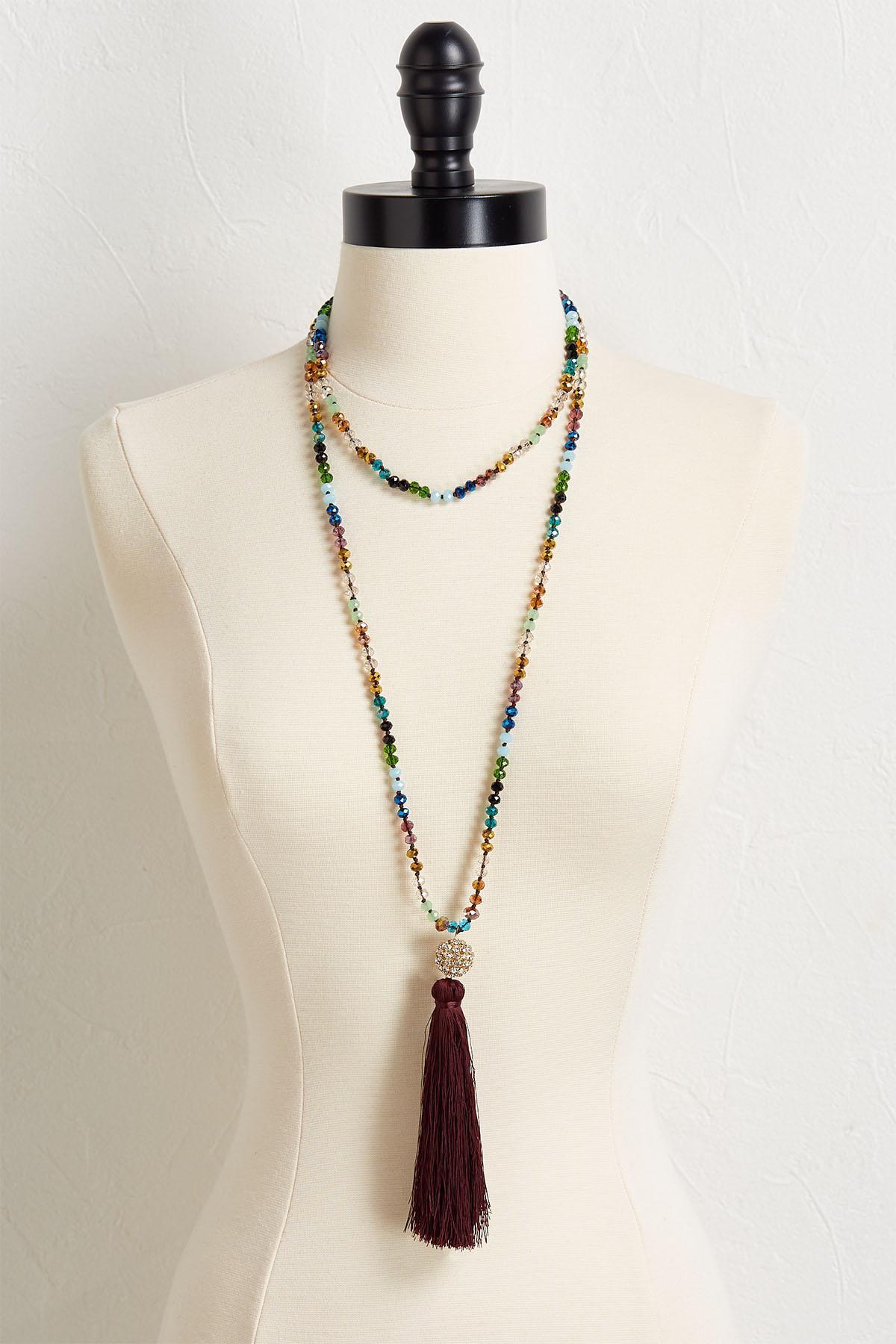 Crystal Tassel Necklace