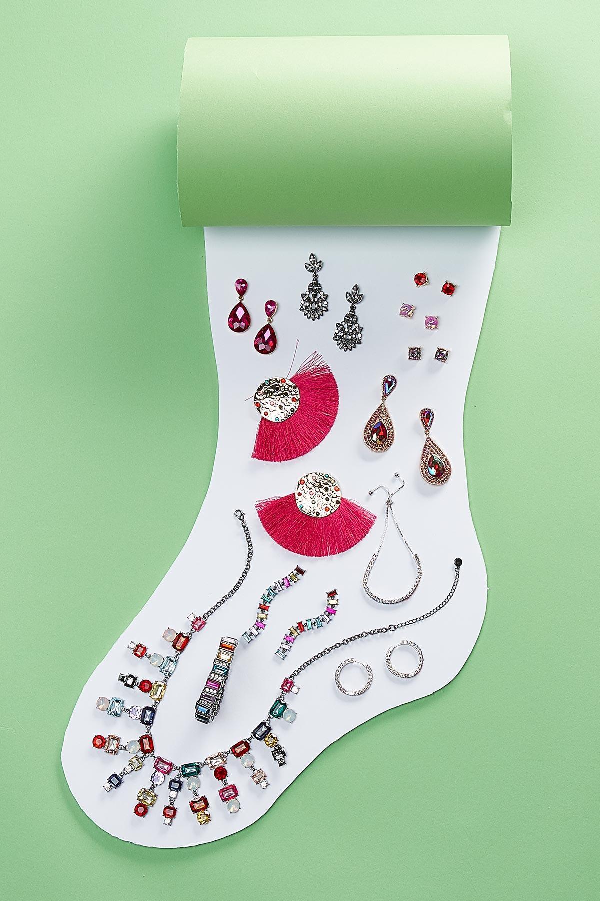Dangling Jeweled Earrings
