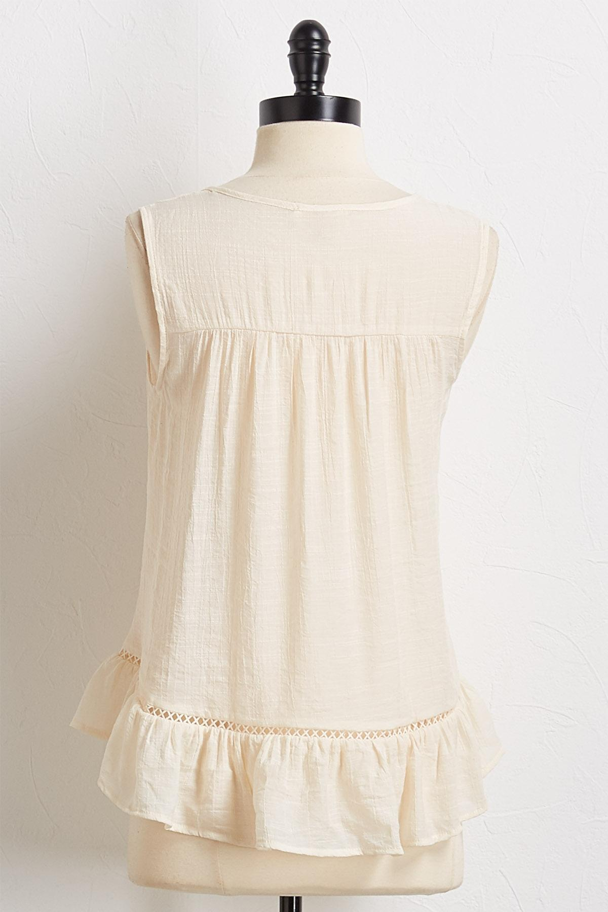 Gauze Crochet Swing Top