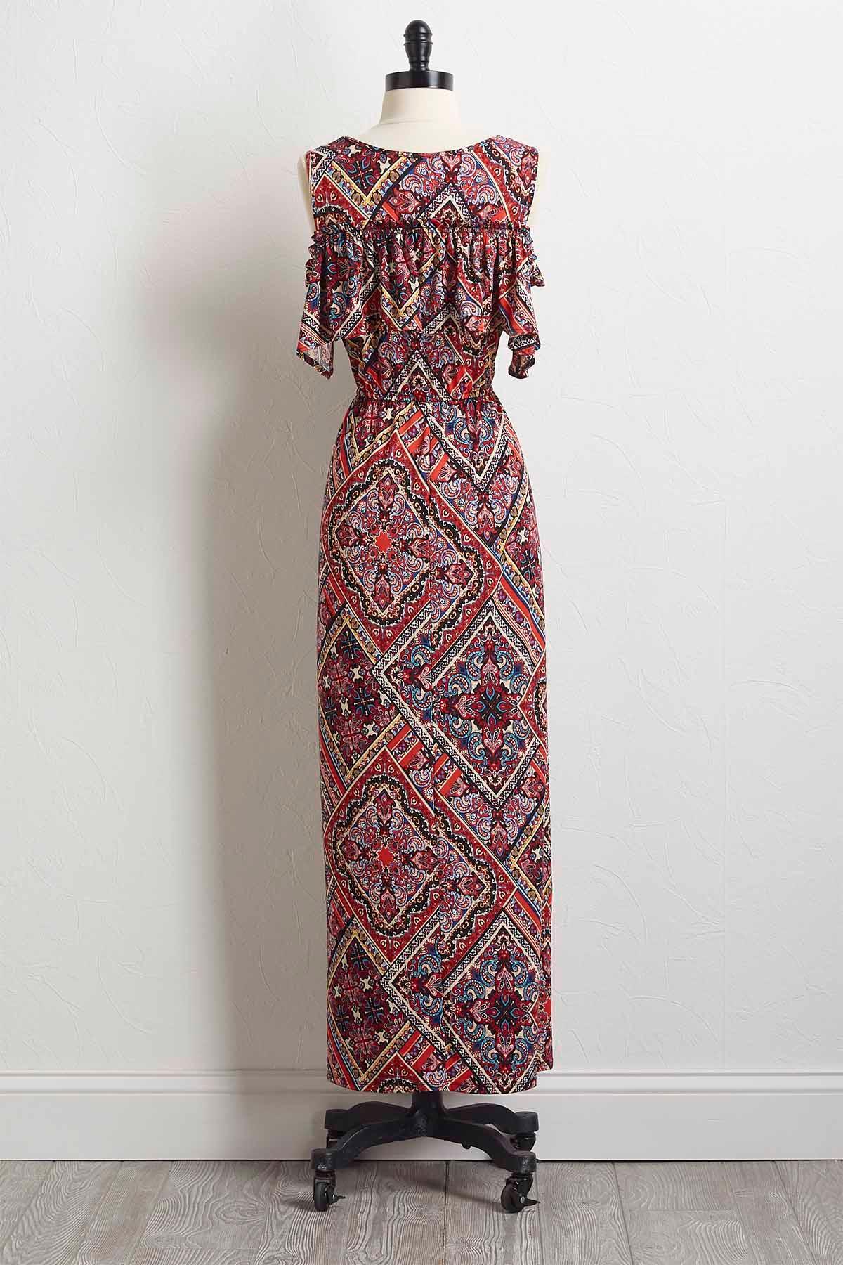 Diamond Paisley Maxi Dress