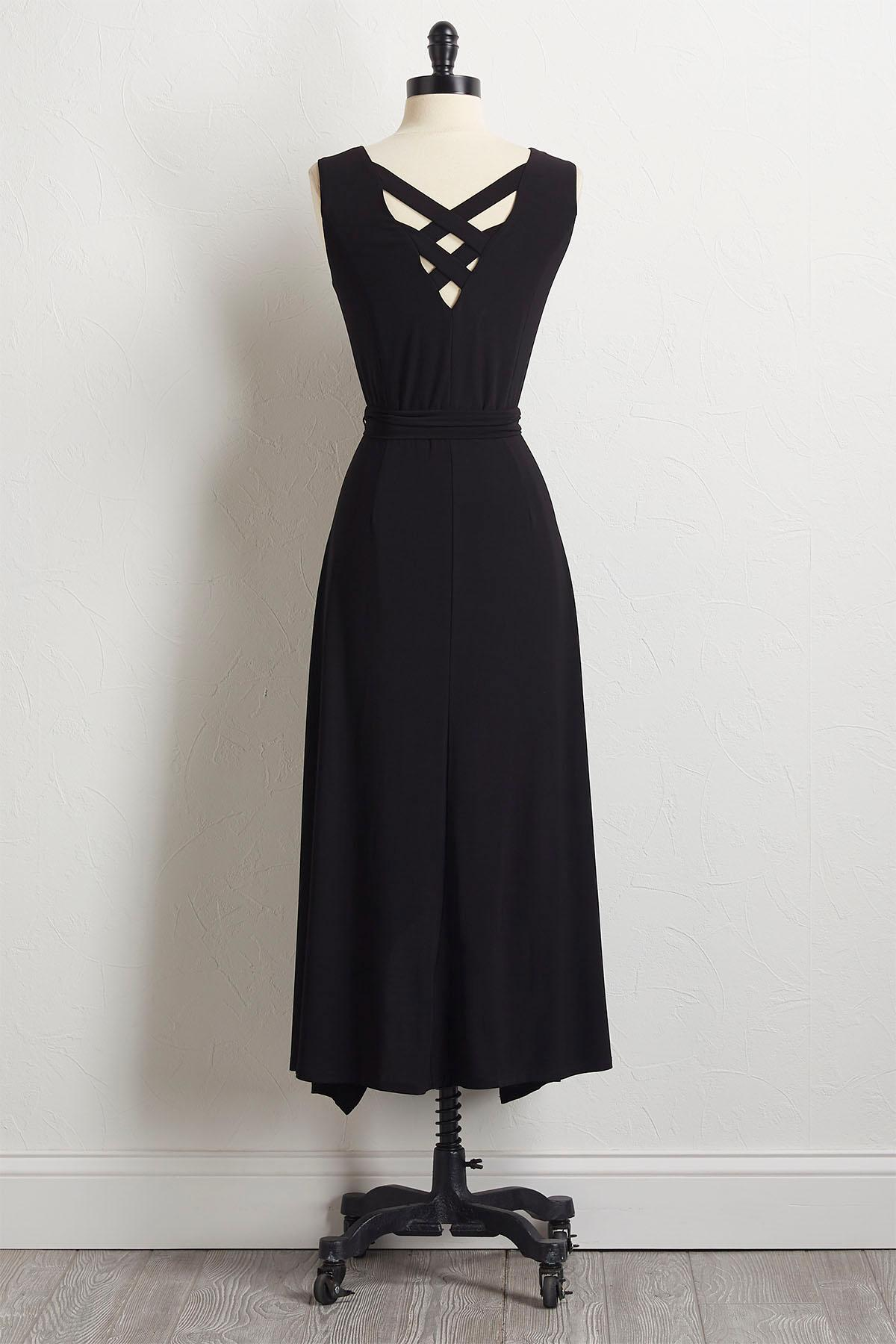 Solid High- Low Dress