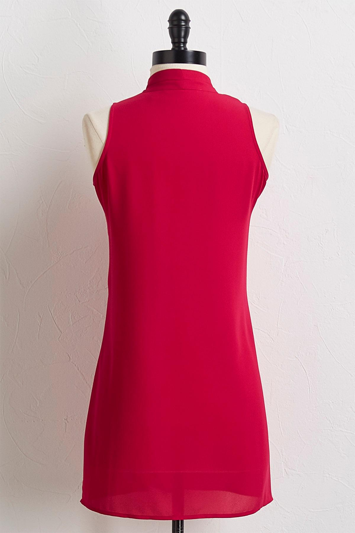 Solid Inverted Pleat Tunic