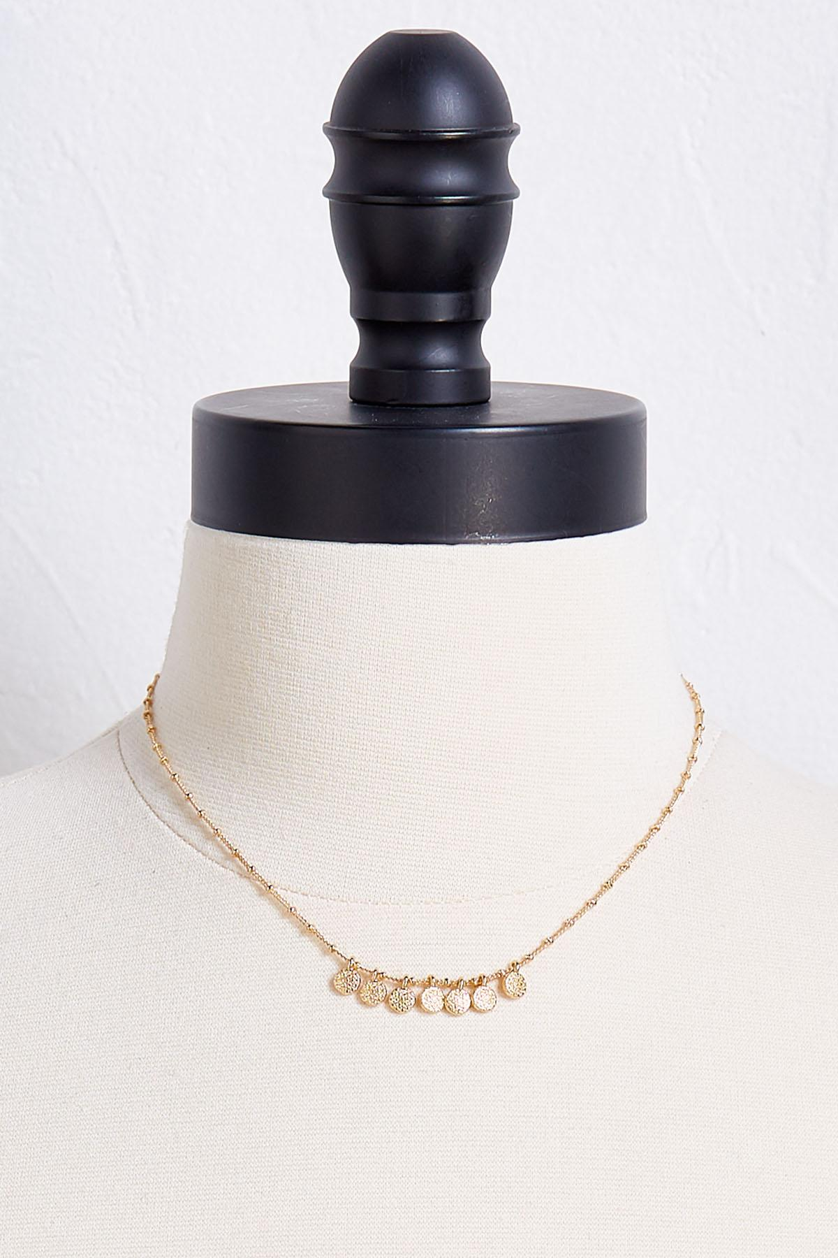 Shaky Gold Disc Necklace