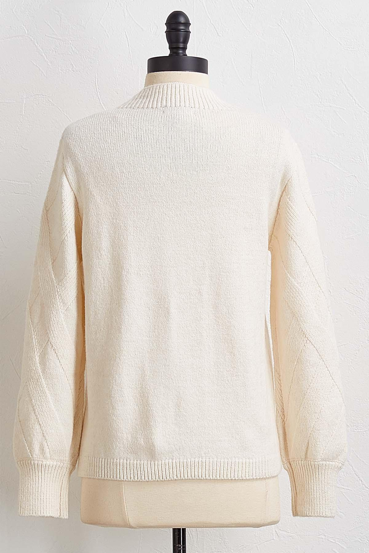 Criss Cross Cable Sweater