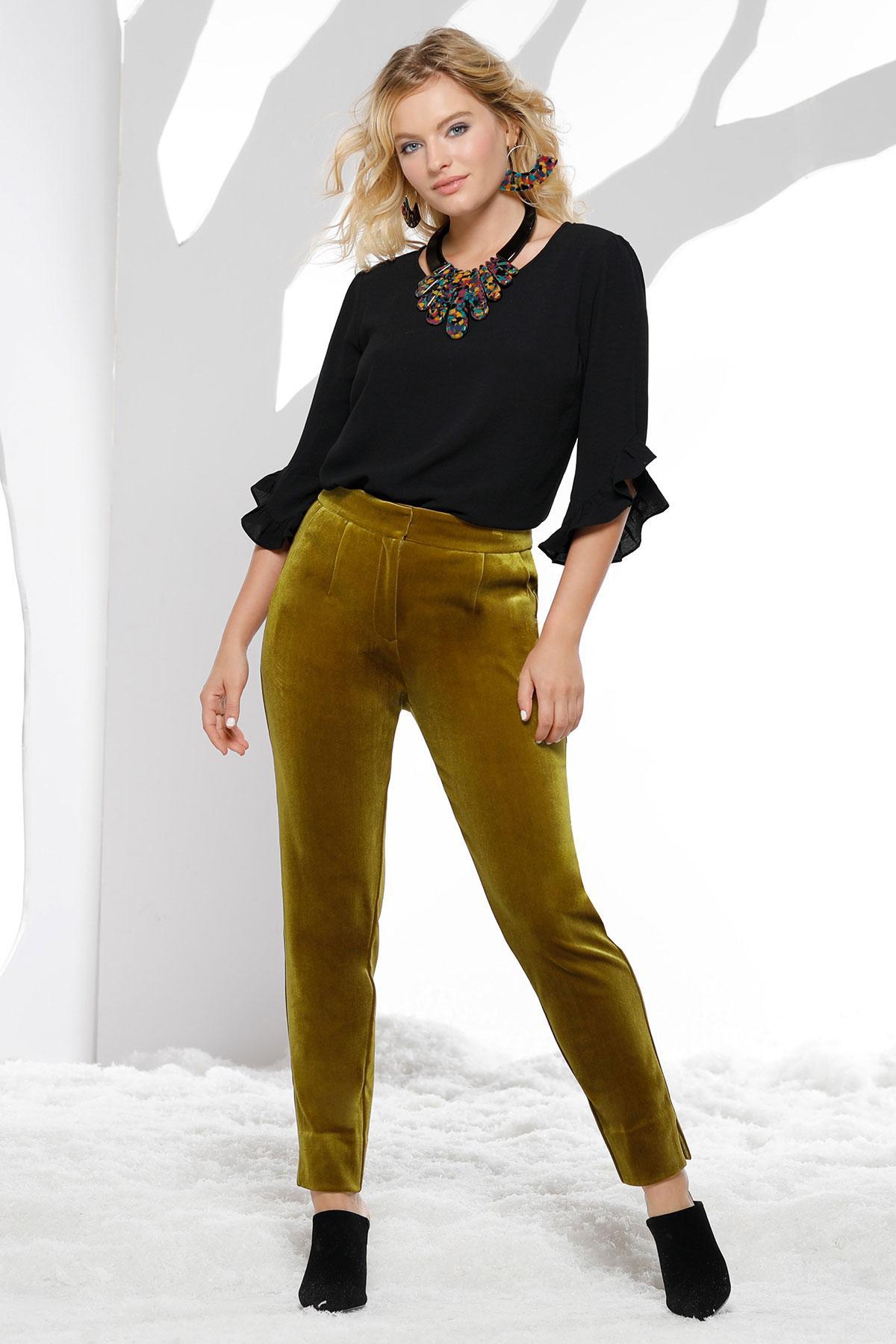 Velvet Skinny Pants