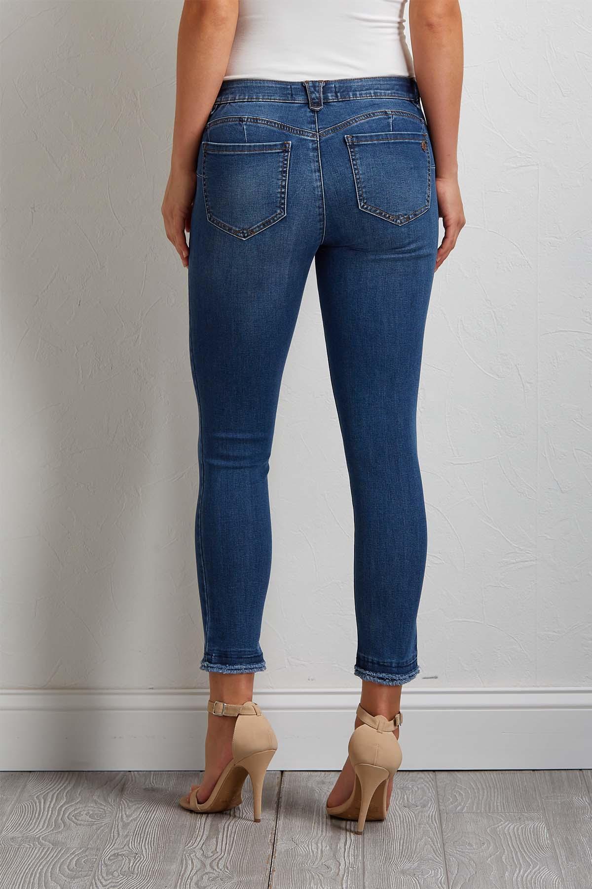 Frayed Skimmer Jeans