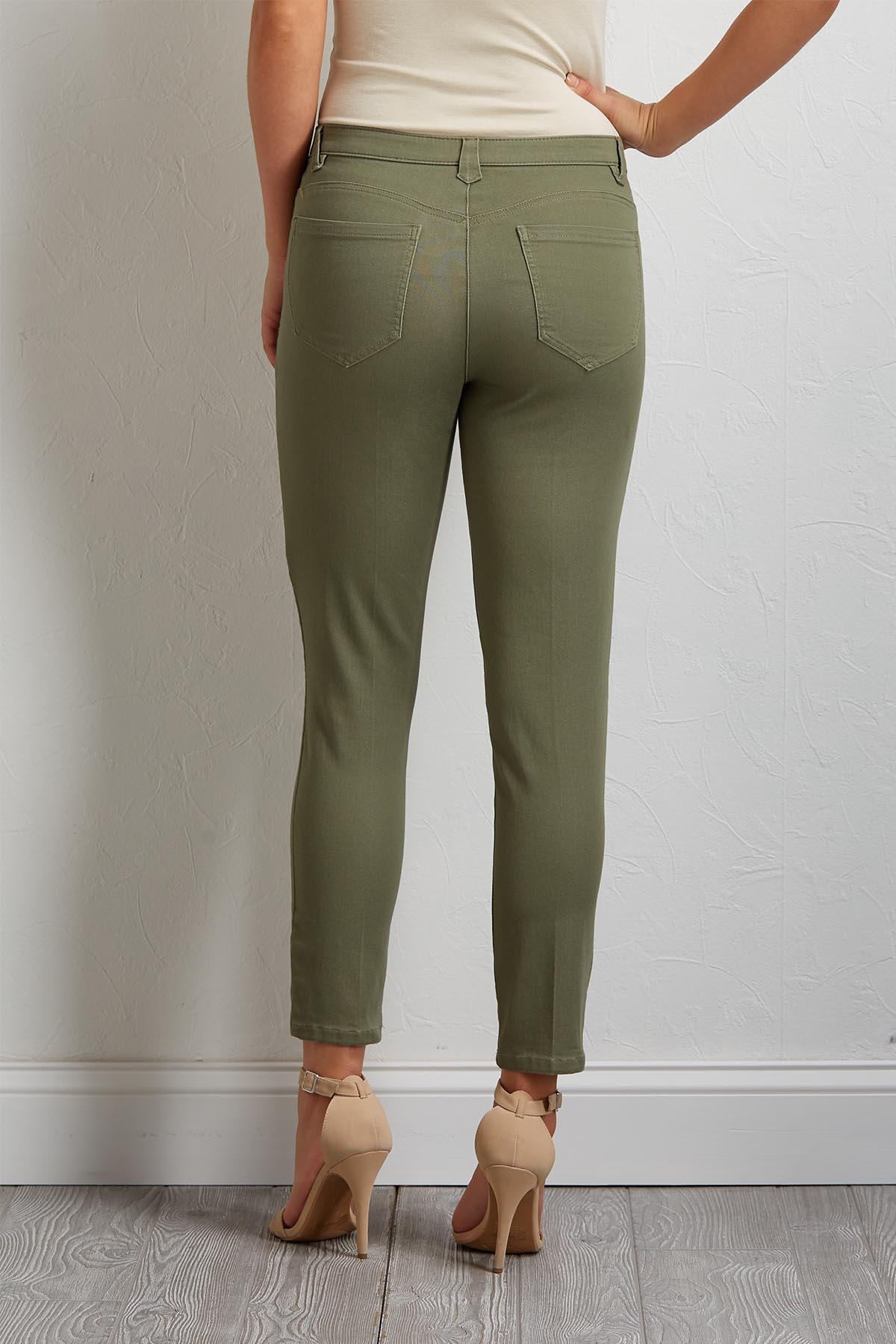 High- Rise Ankle Pants