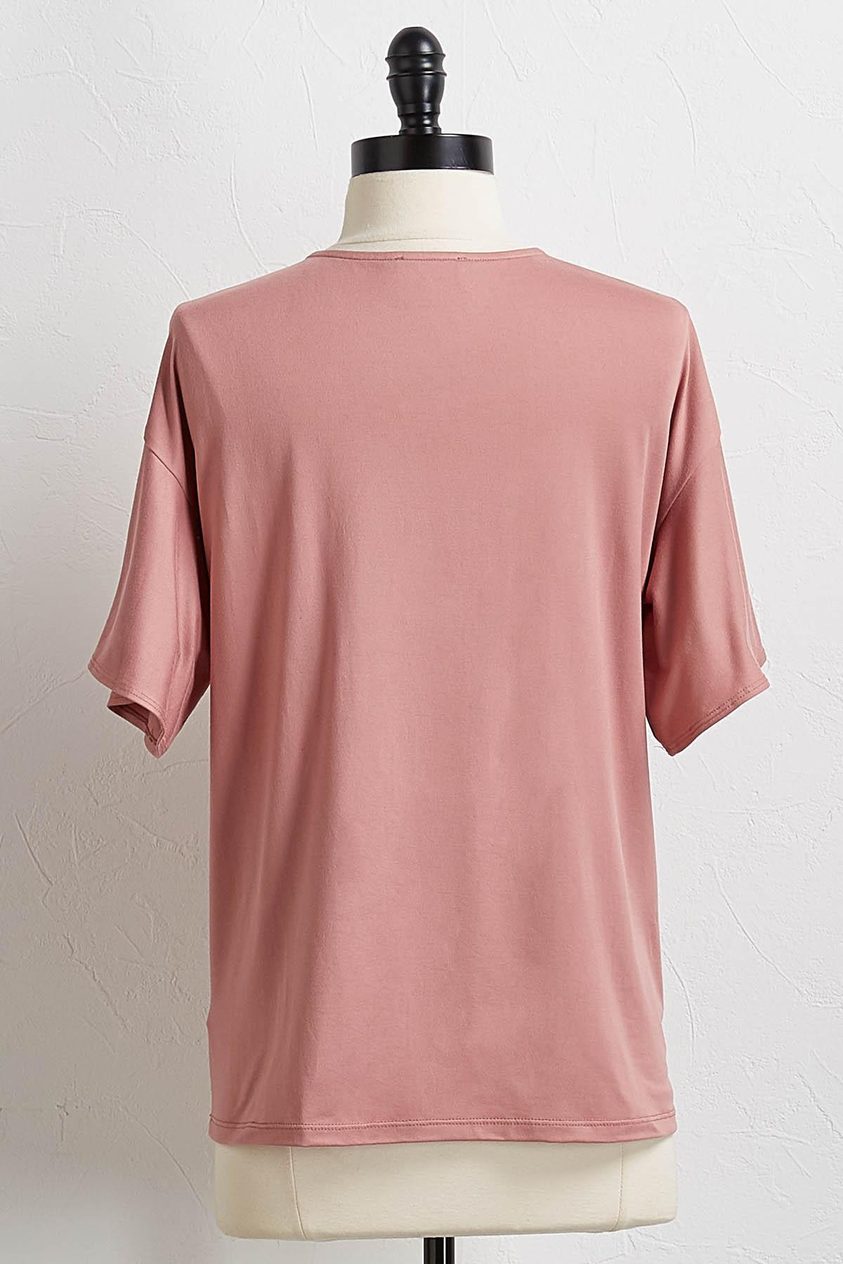 Blush Flutter Sleeve Tee