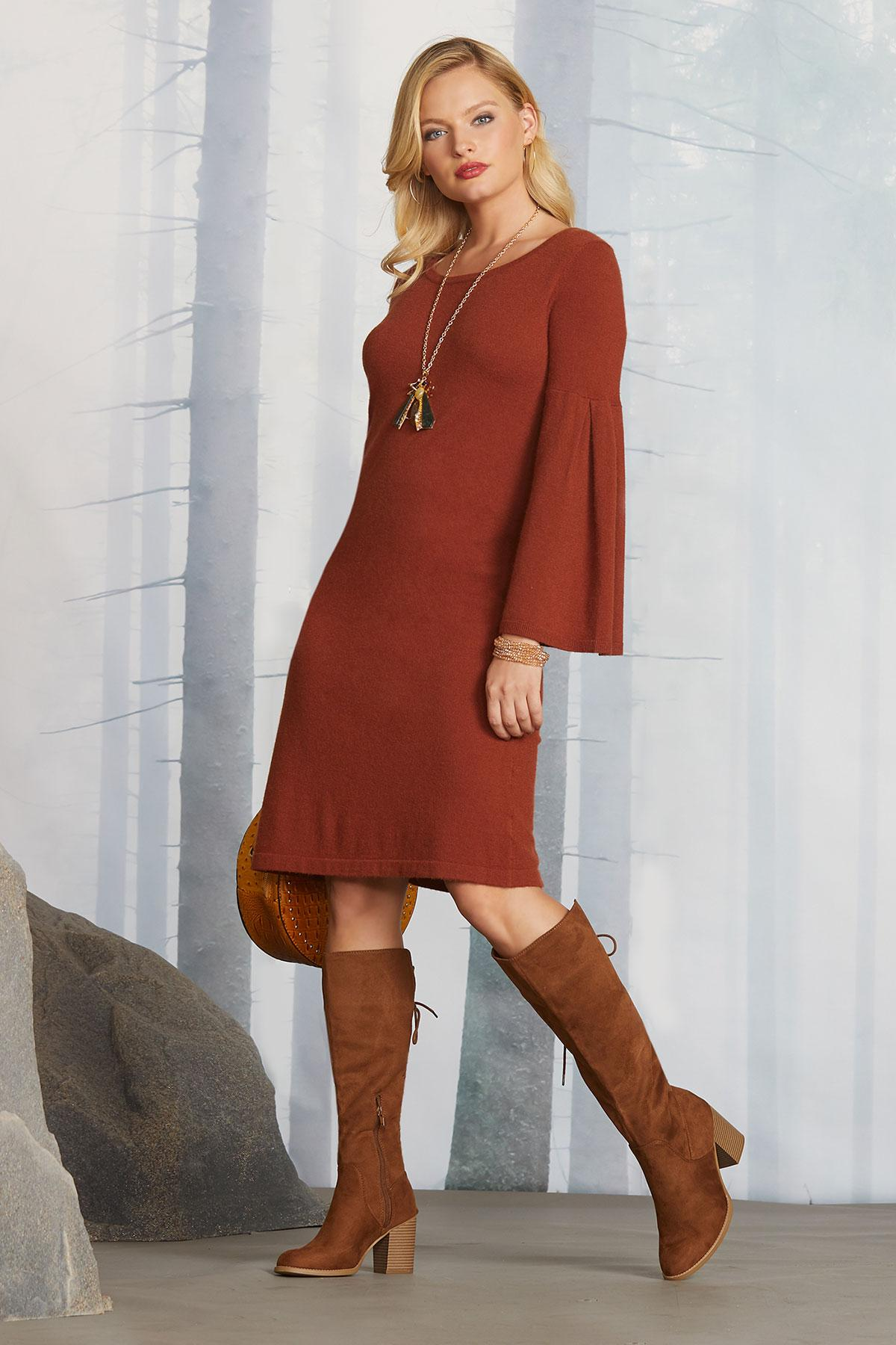 Rustic Fall Sweater Dress