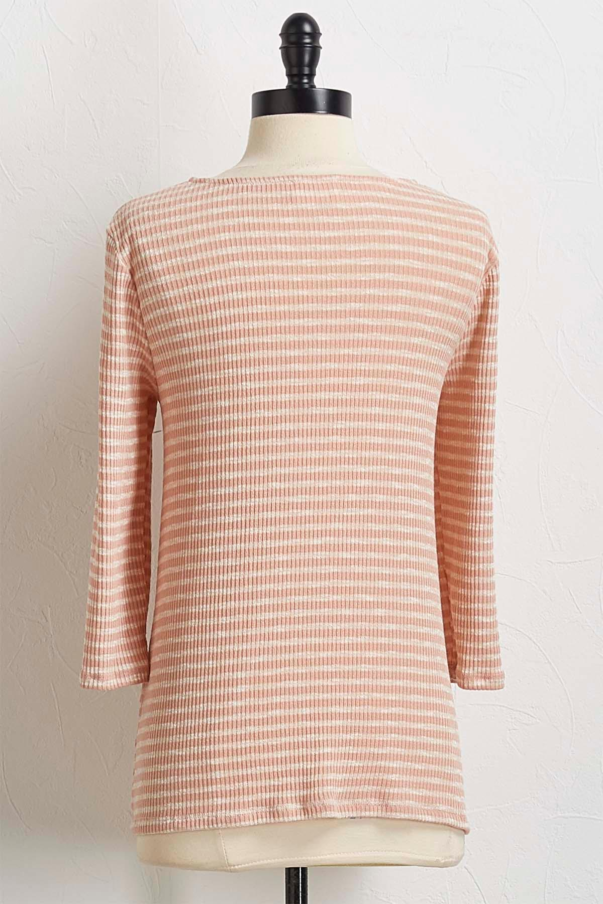 Knotted Rose Stripe Top