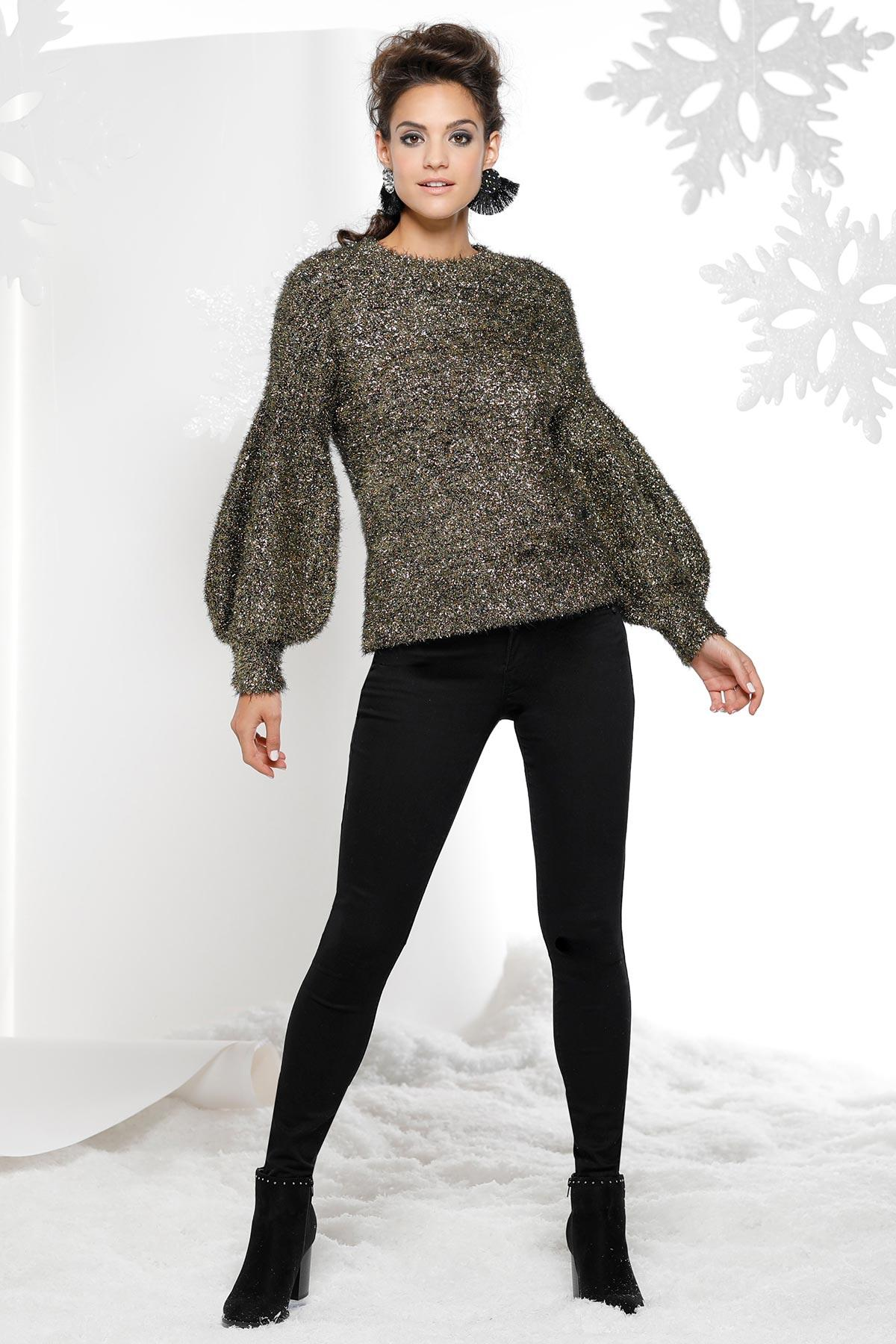 Shimmery Gold Sweater