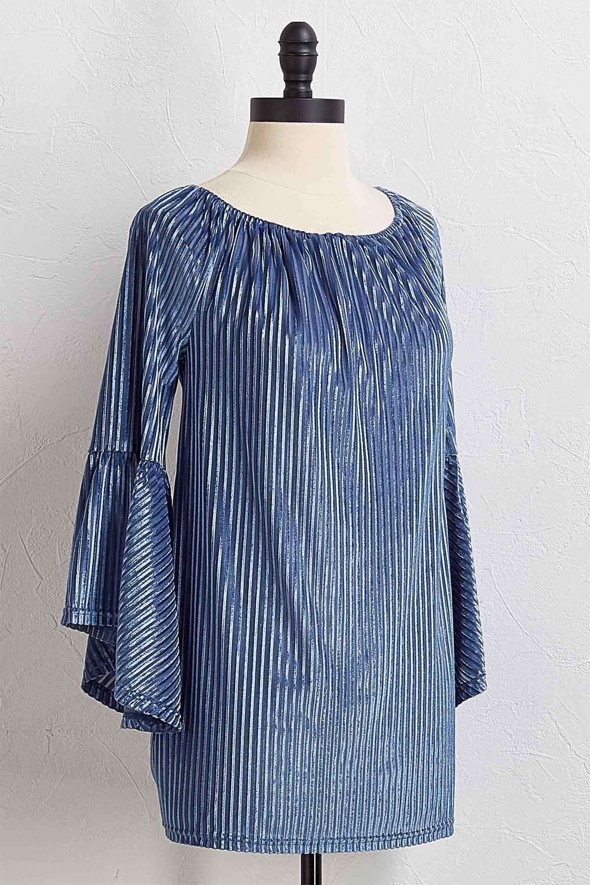 Velvet Shadow Stripe Top