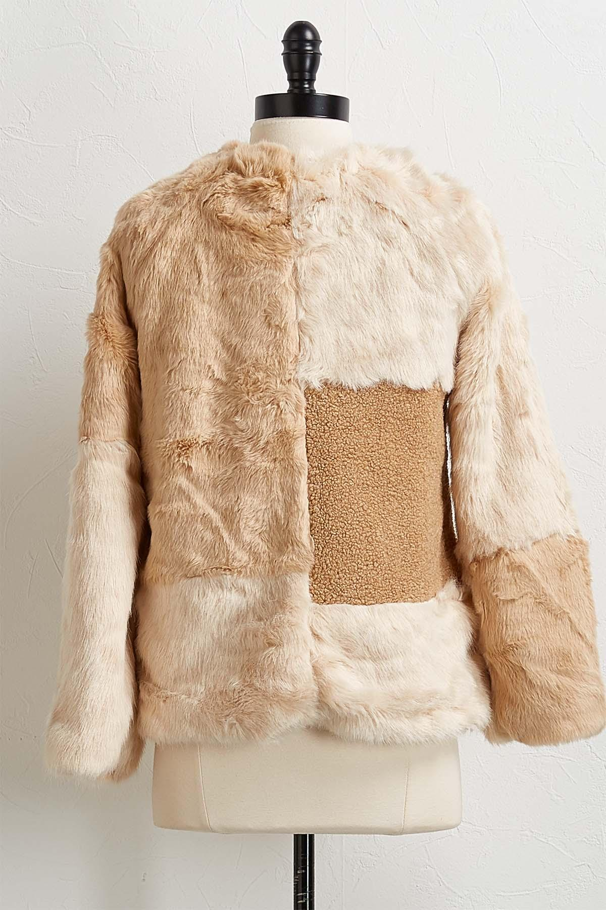 Faux Fur Patchwork Jacket