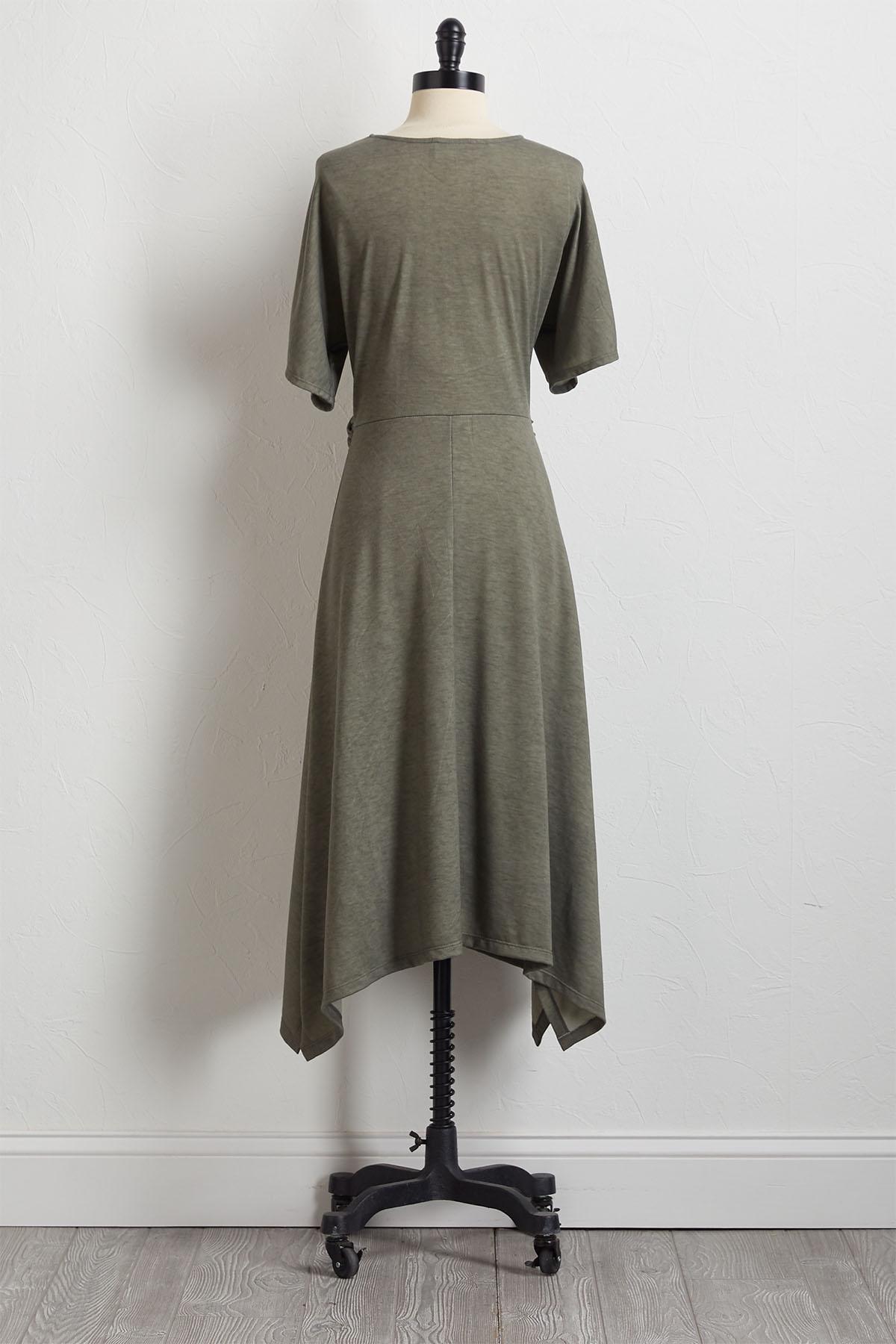 Twisted Hanky Hem Dress
