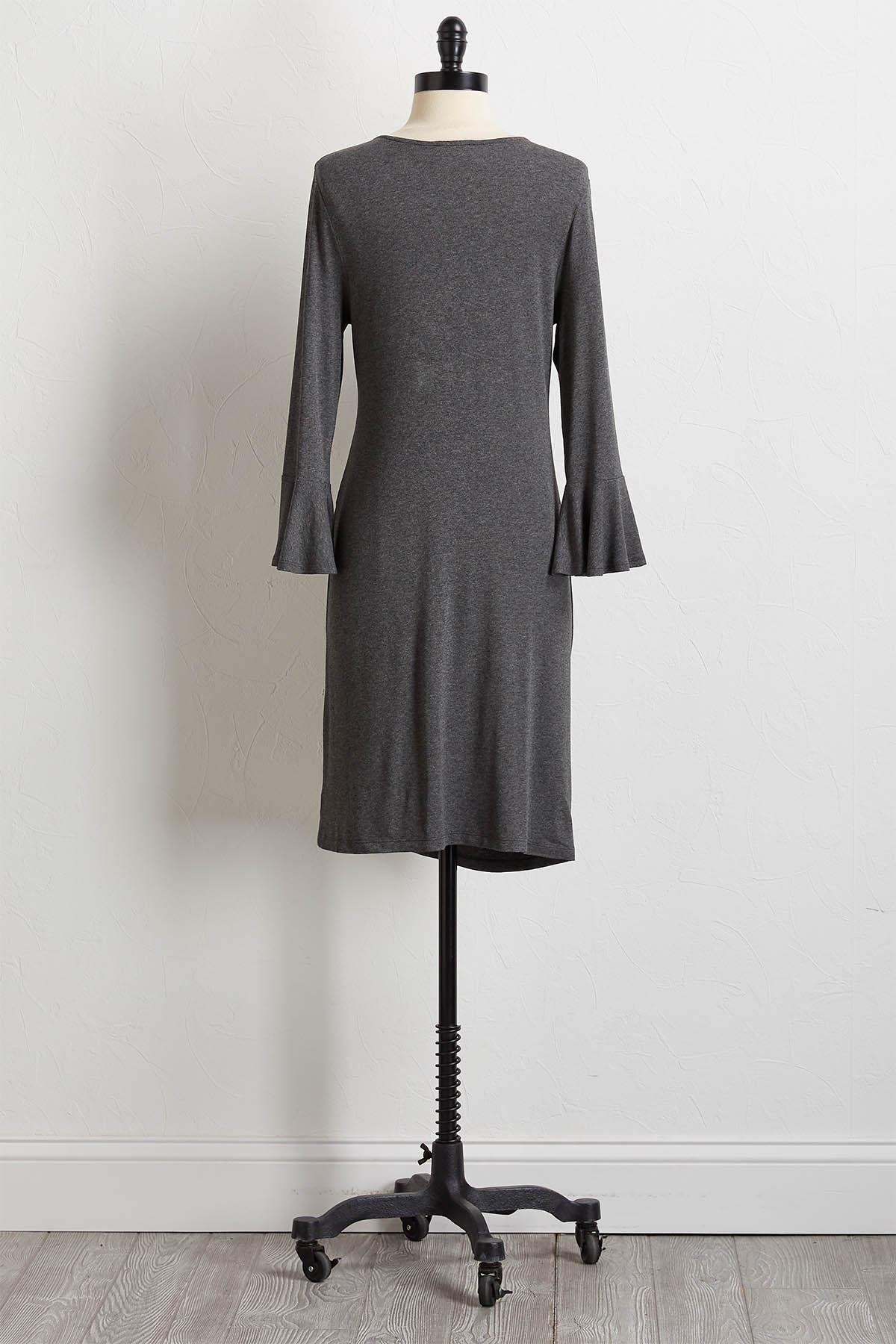 Gray Side Tie Dress