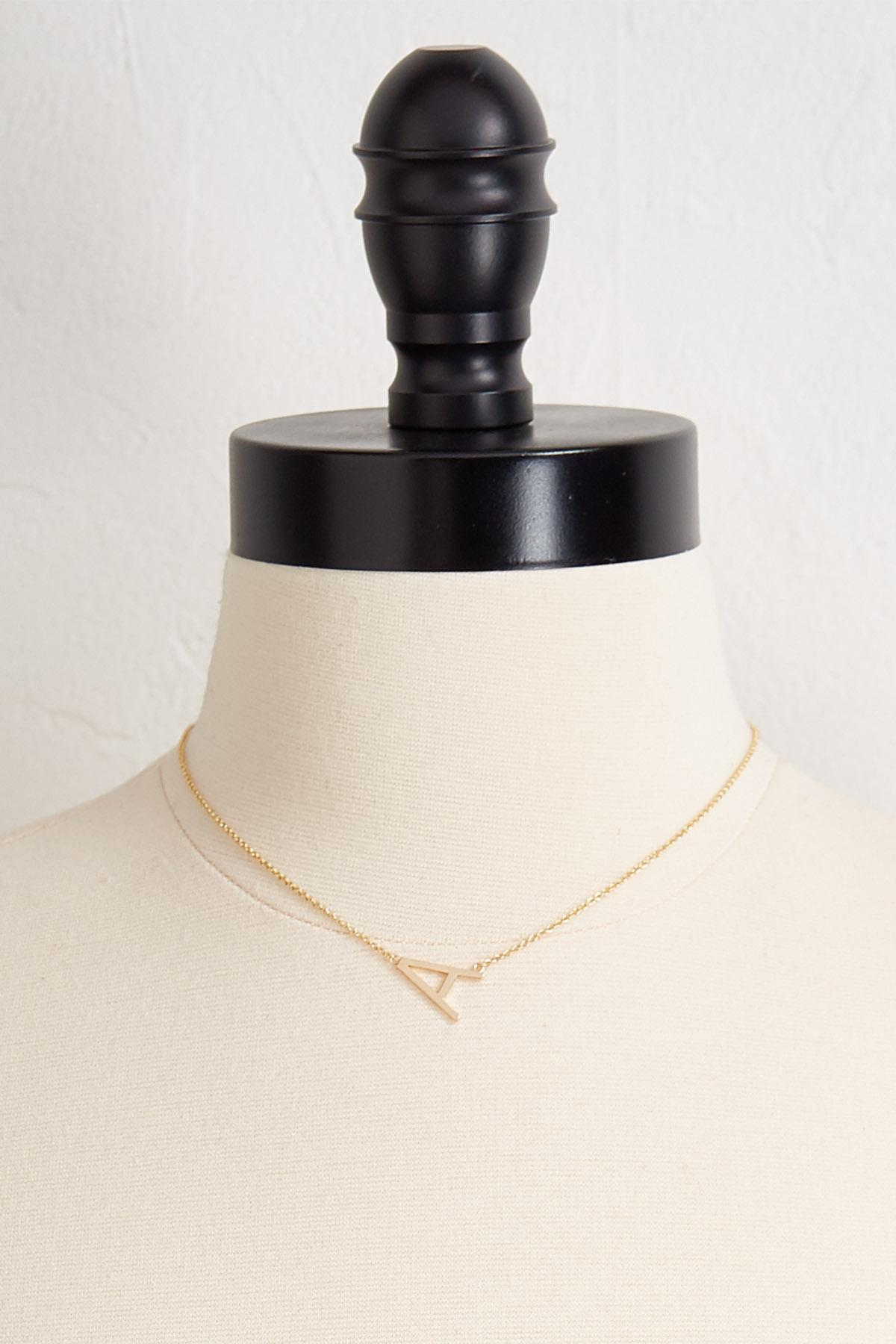 A Initial Pendant Necklace