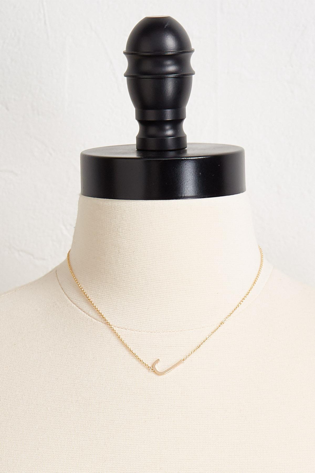 J Initial Pendant Necklace