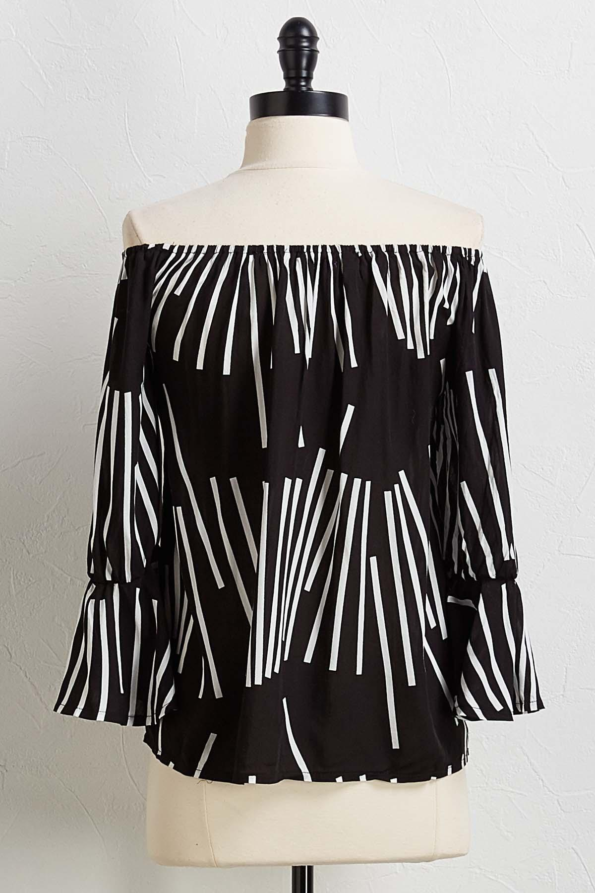 Contrast Broken Stripe Top