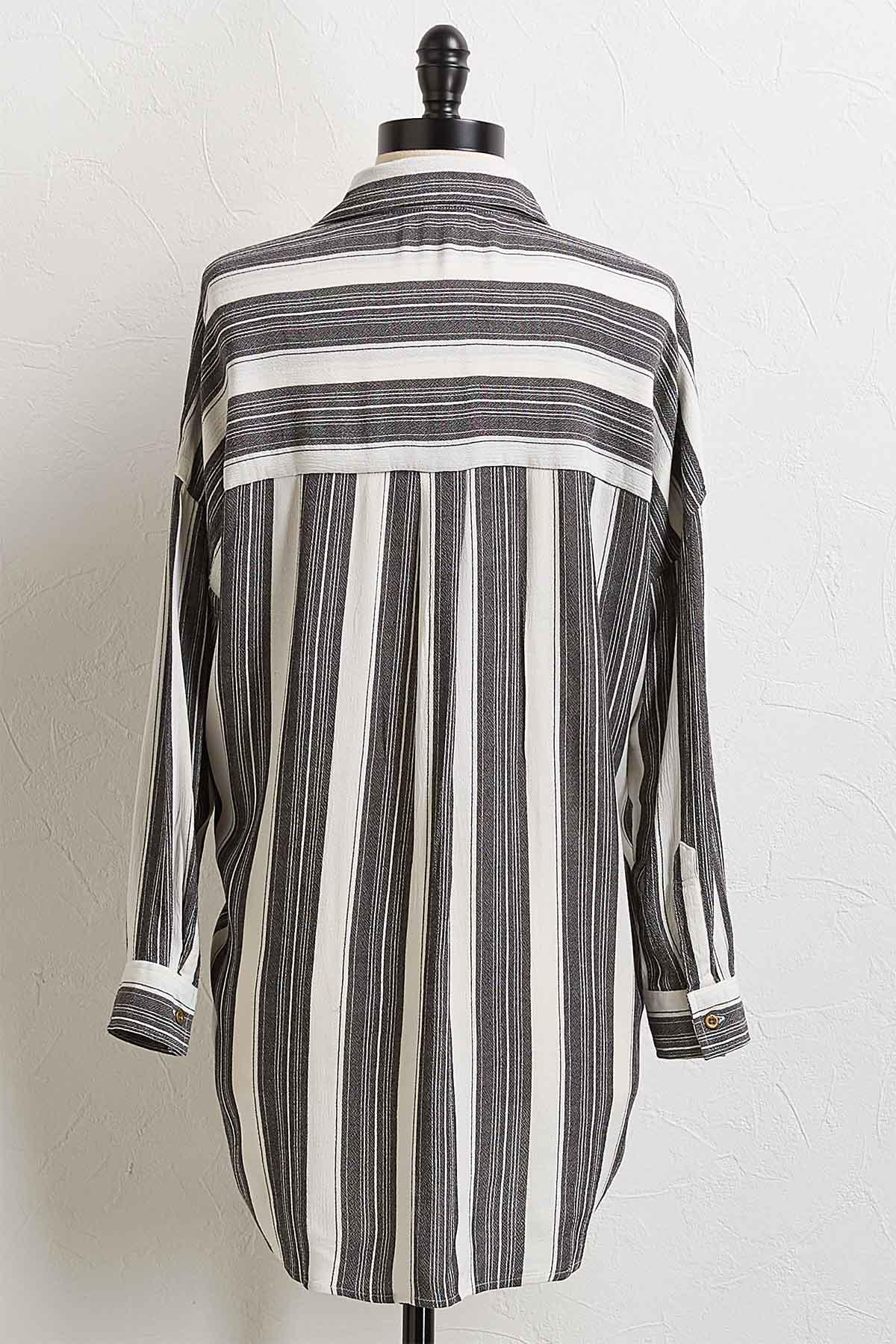 Stripe Button Down Tunic