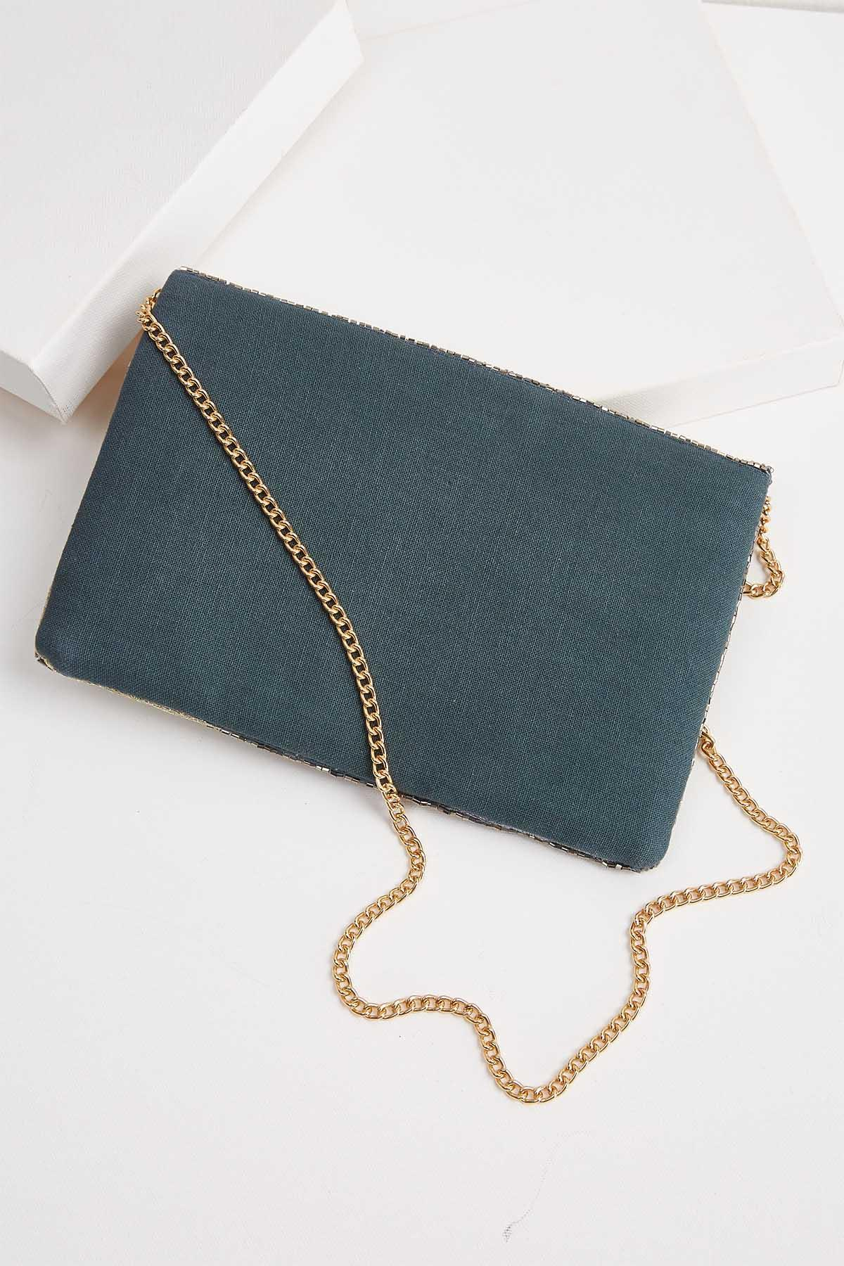 Metallic Leaf Clutch