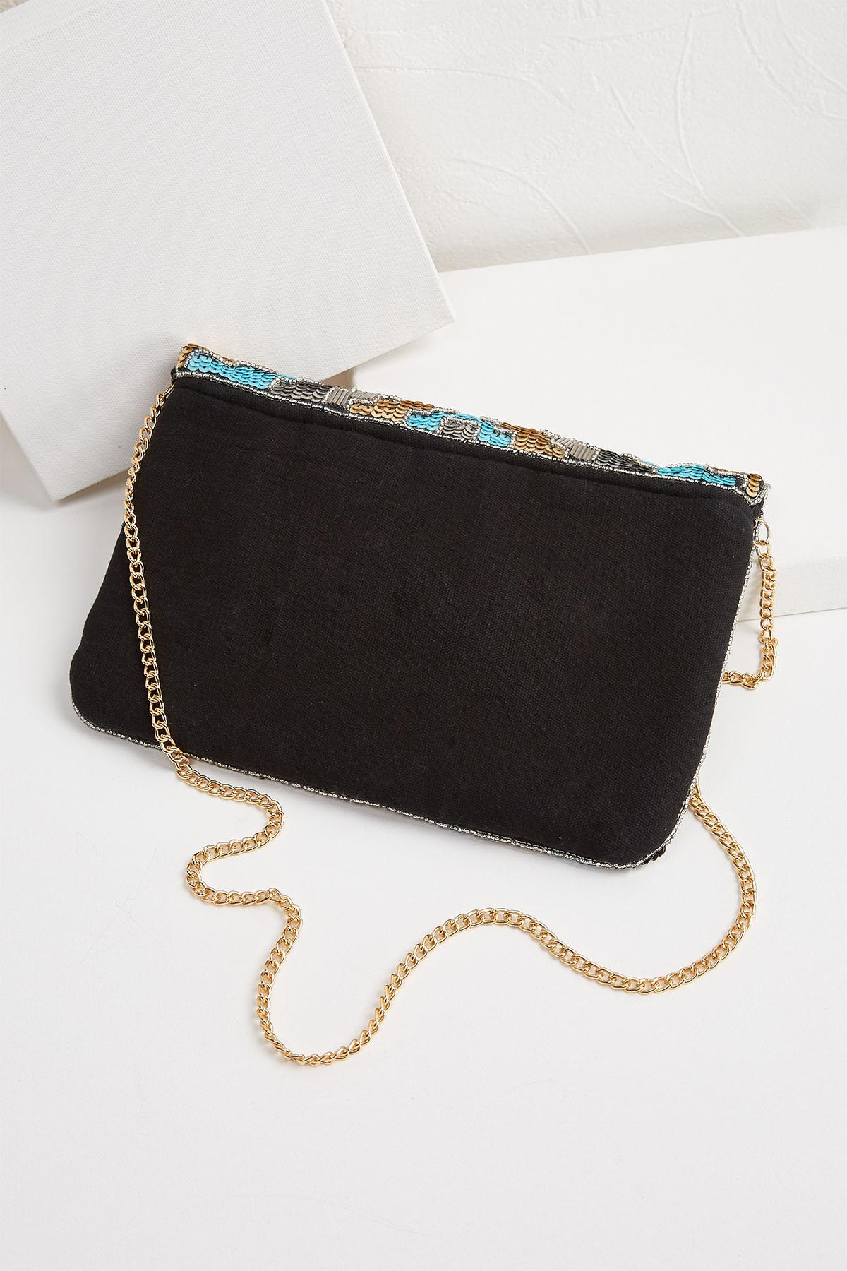 Dazzled Sequin Envelope Clutch
