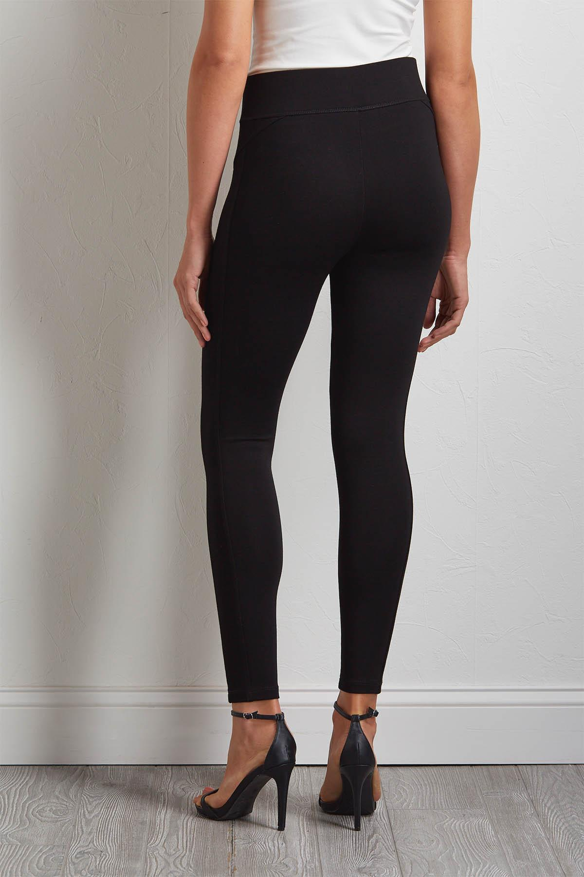Black Ponte Leggings