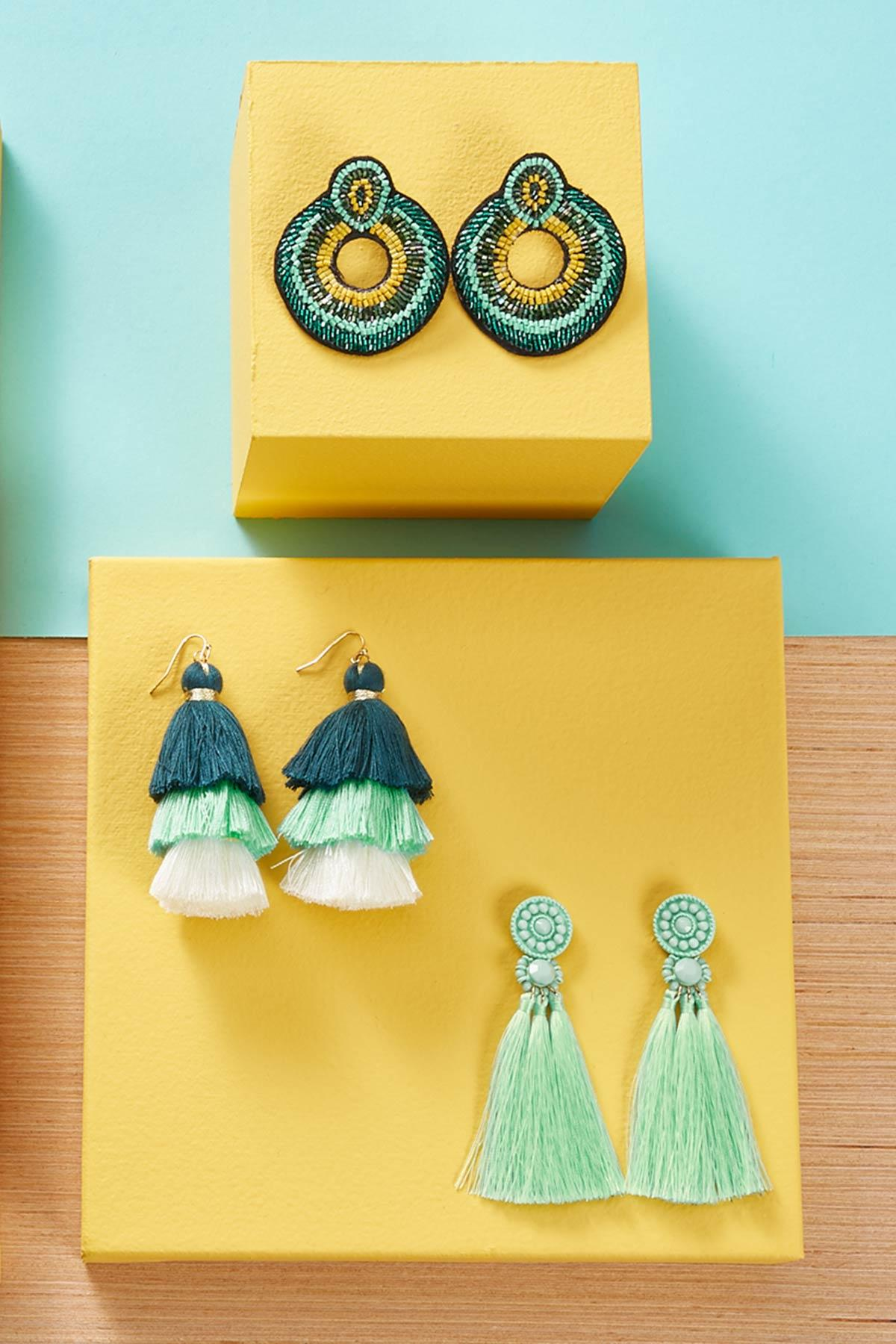 Tasseled Medallion Earrings