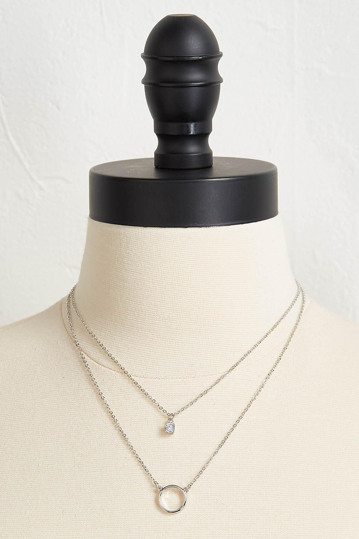 Teacher Layered Necklace And Earring Set