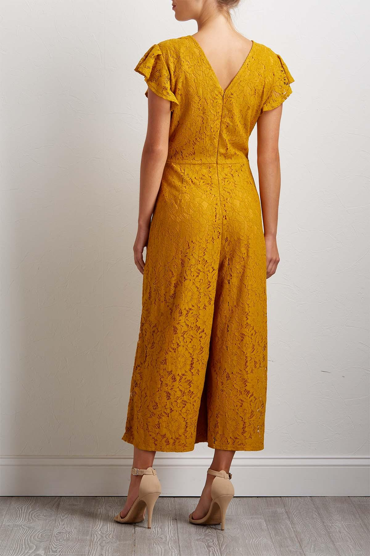Golden Lace Jumpsuit
